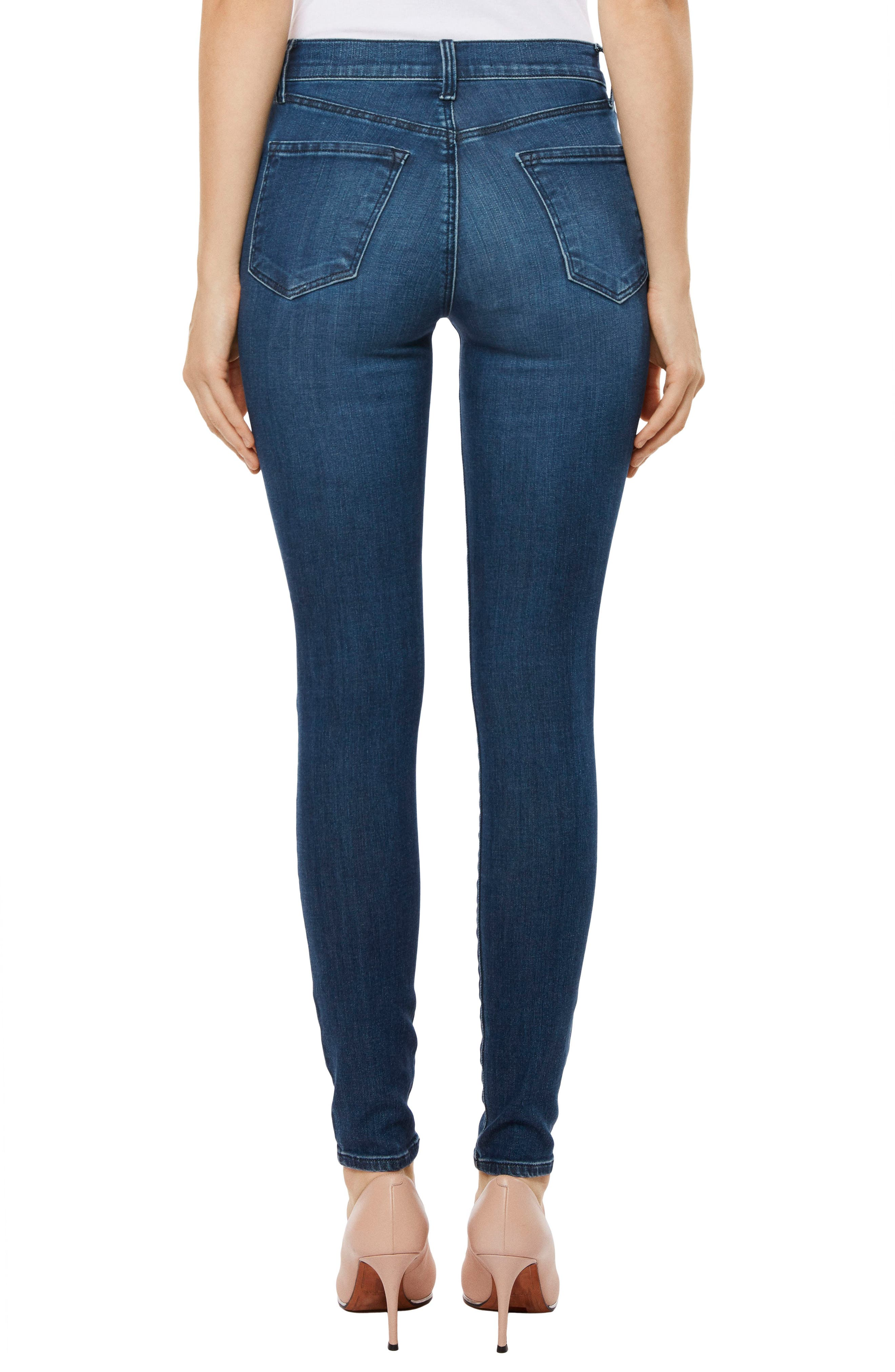 Maria High Waist Skinny Jeans,                             Alternate thumbnail 16, color,