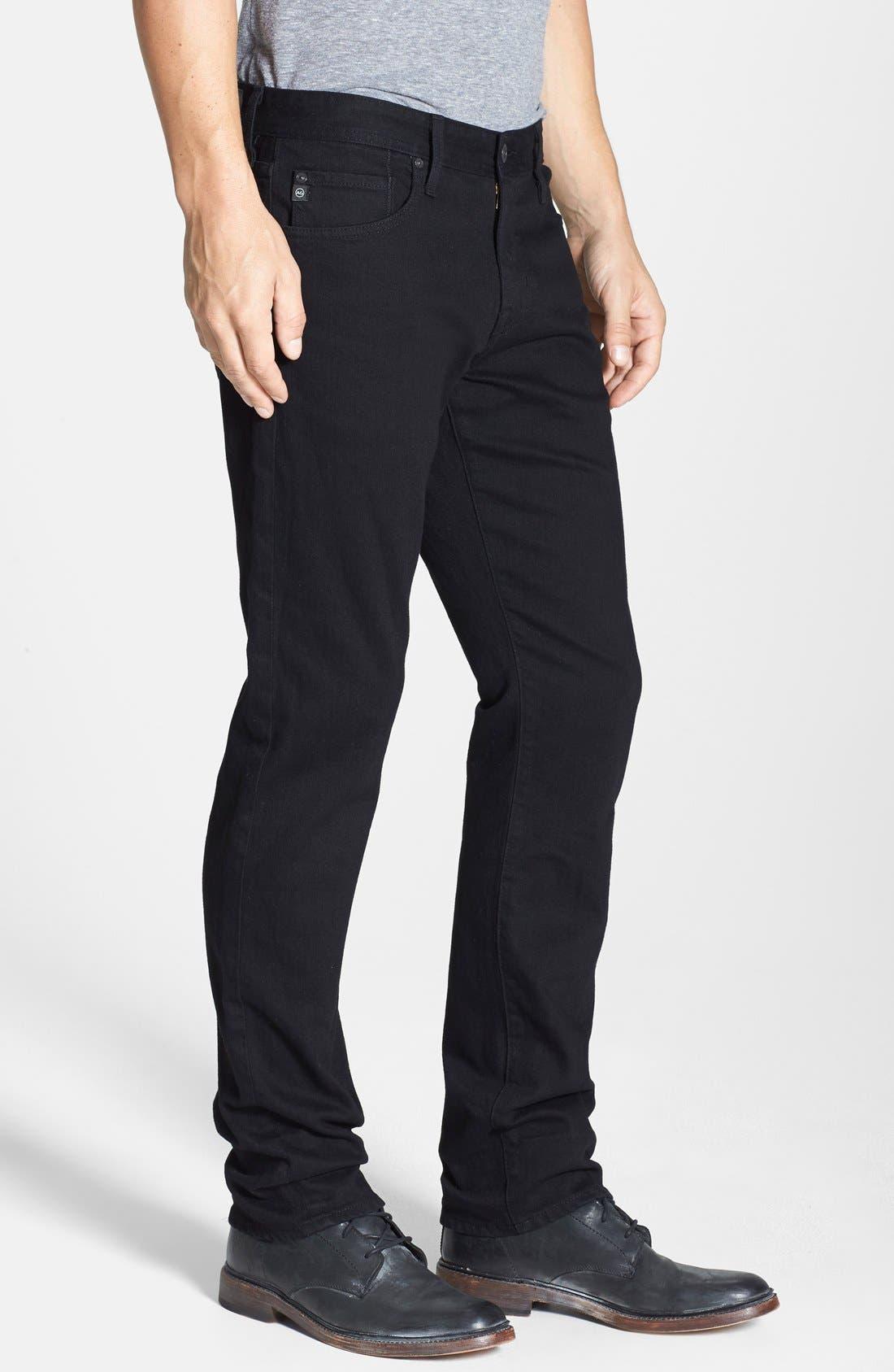 Graduate Slim Straight Leg Jeans,                             Alternate thumbnail 5, color,                             BLACKBIRD