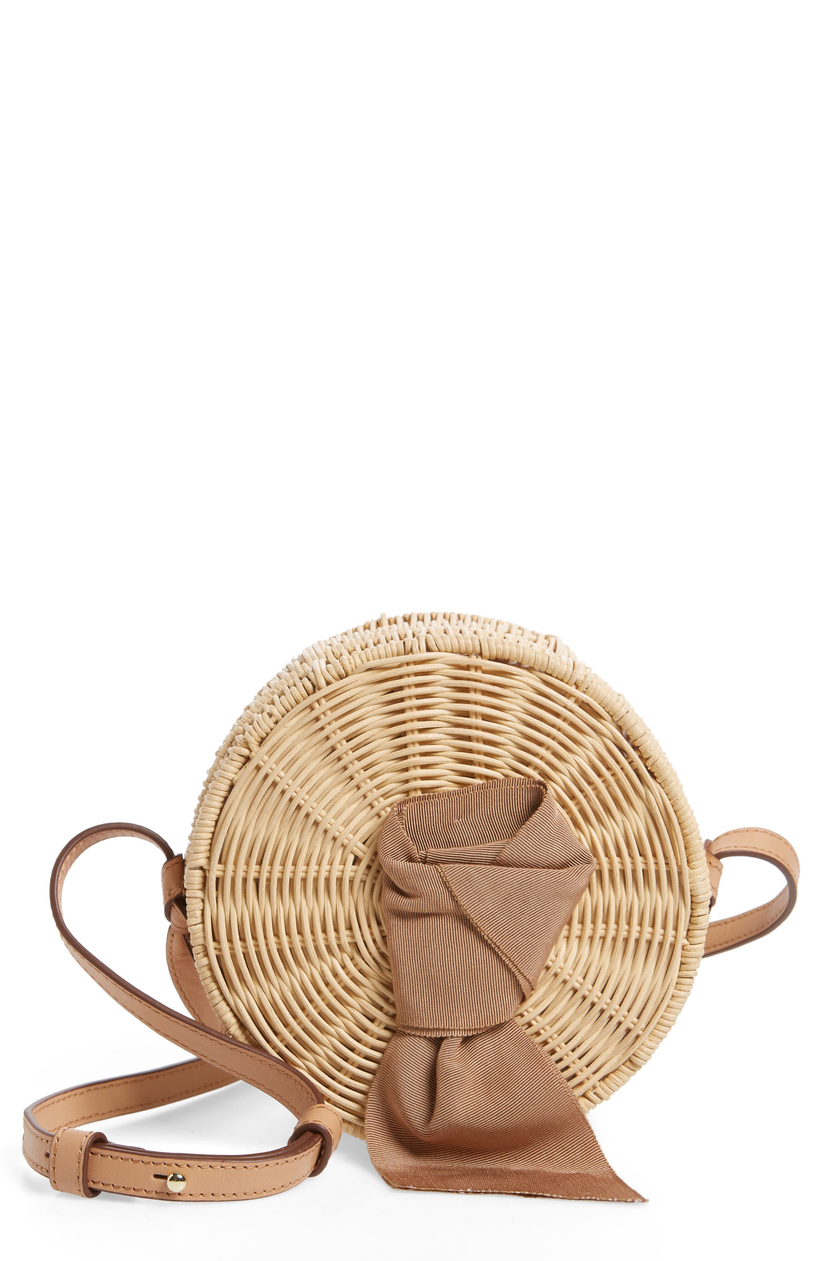 Paige Woven Rattan Crossbody Bag,                         Main,                         color, 250