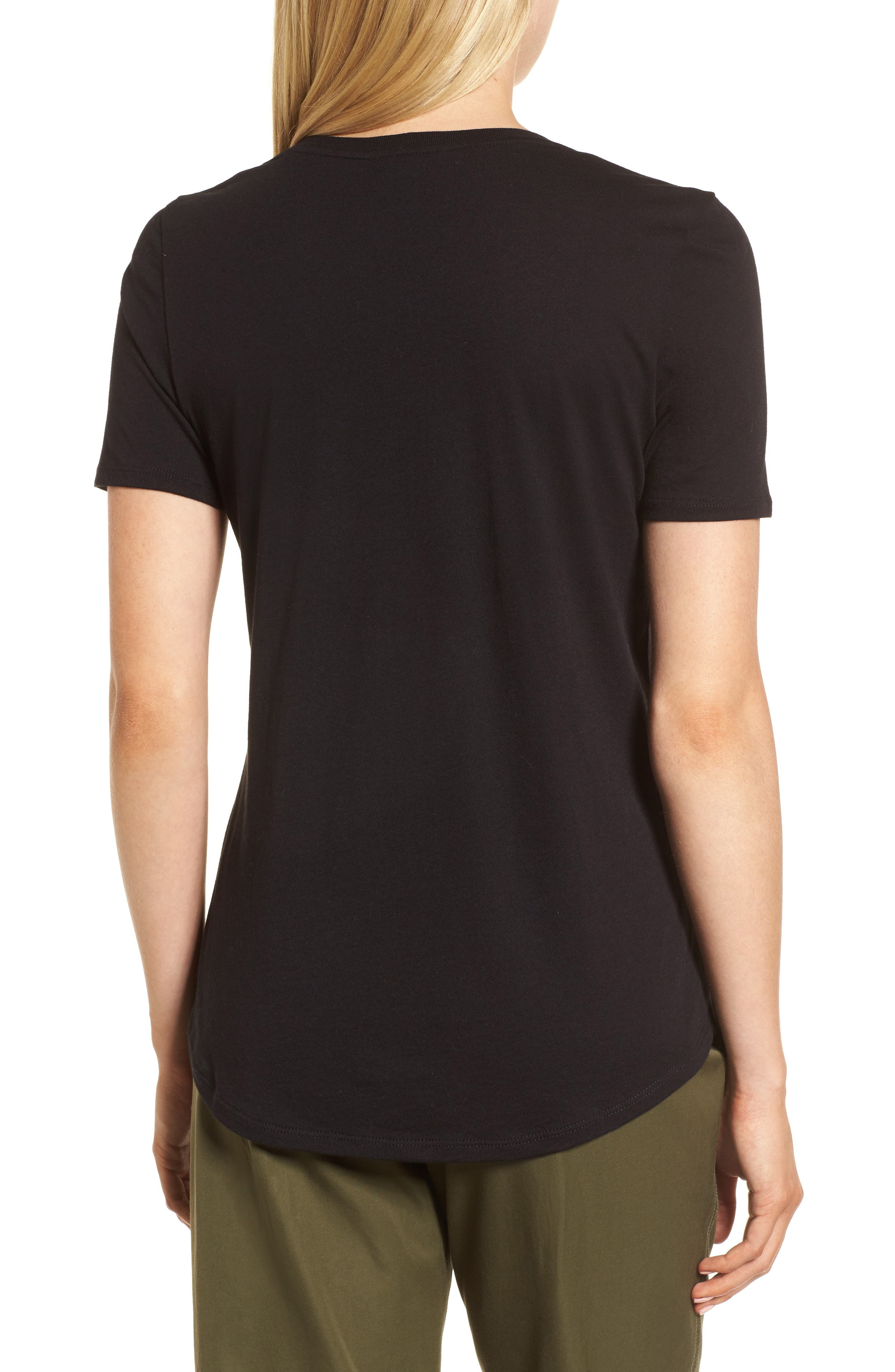 Scoop Neck Tee,                             Alternate thumbnail 2, color,                             001