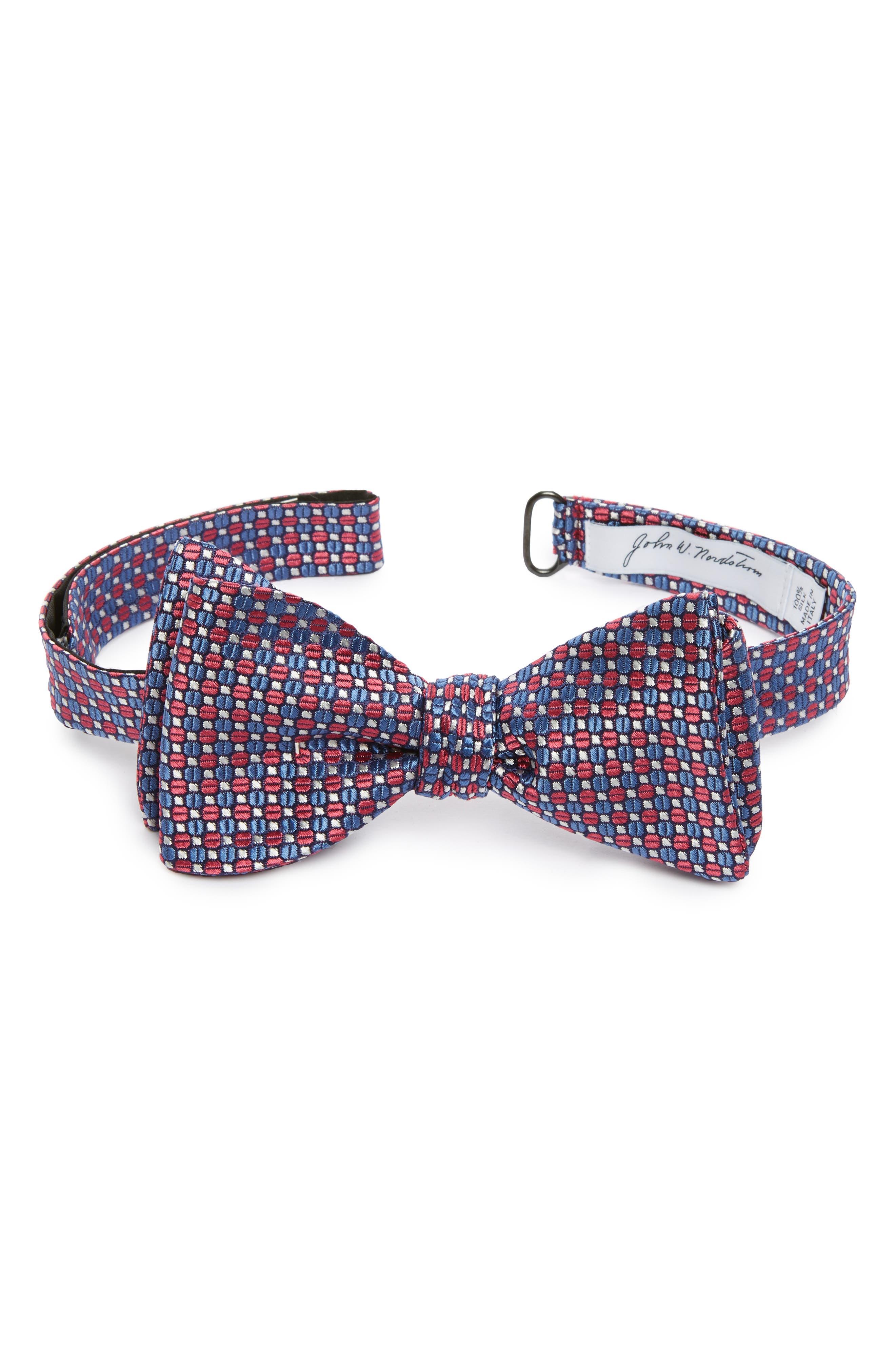 Geometric Silk Bow Tie,                             Main thumbnail 3, color,