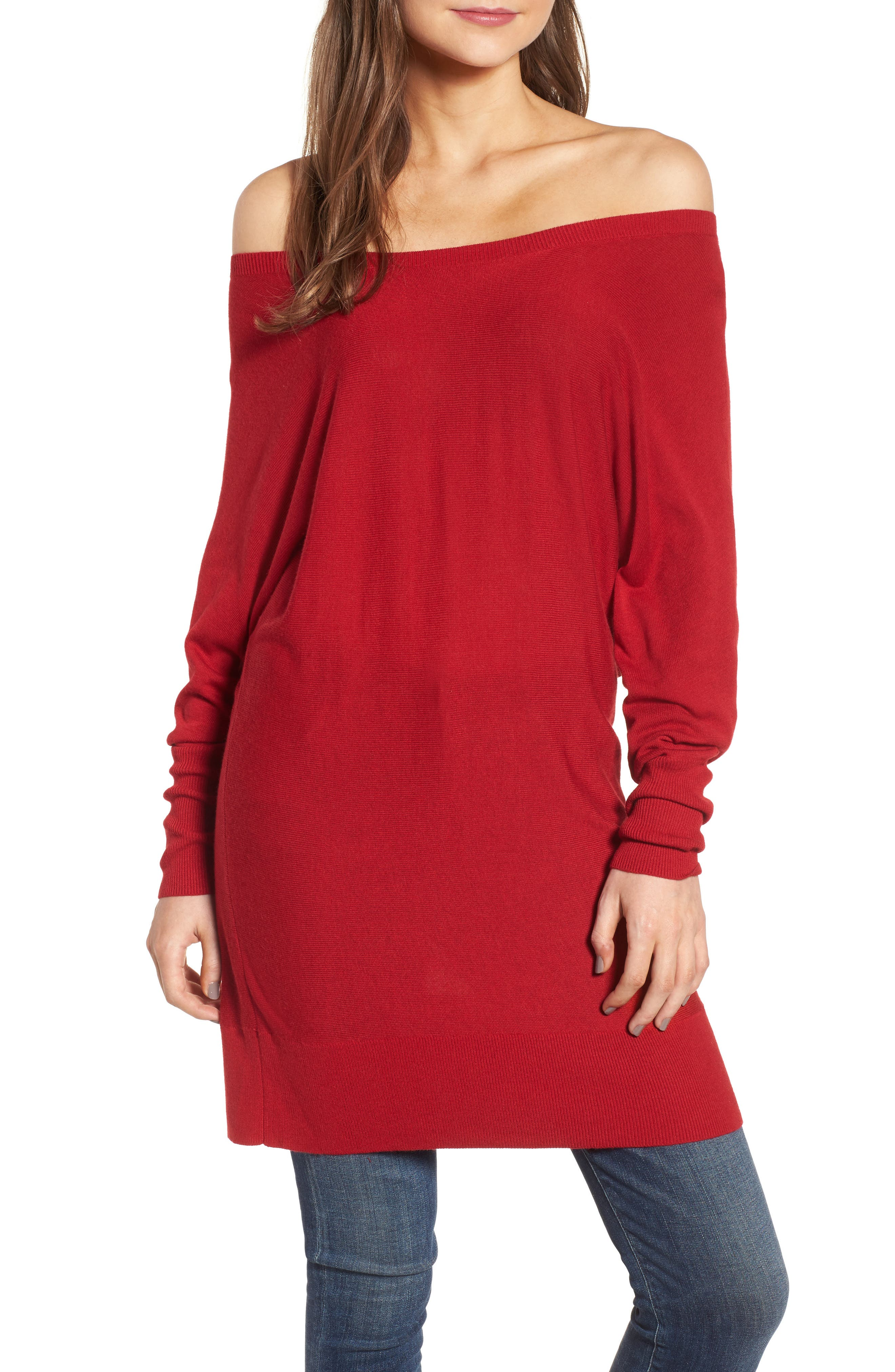 Off the Shoulder Sweater Tunic,                             Main thumbnail 5, color,