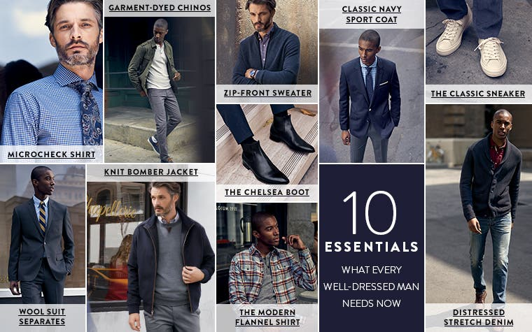 10 essentials: what every well-dressed man needs now