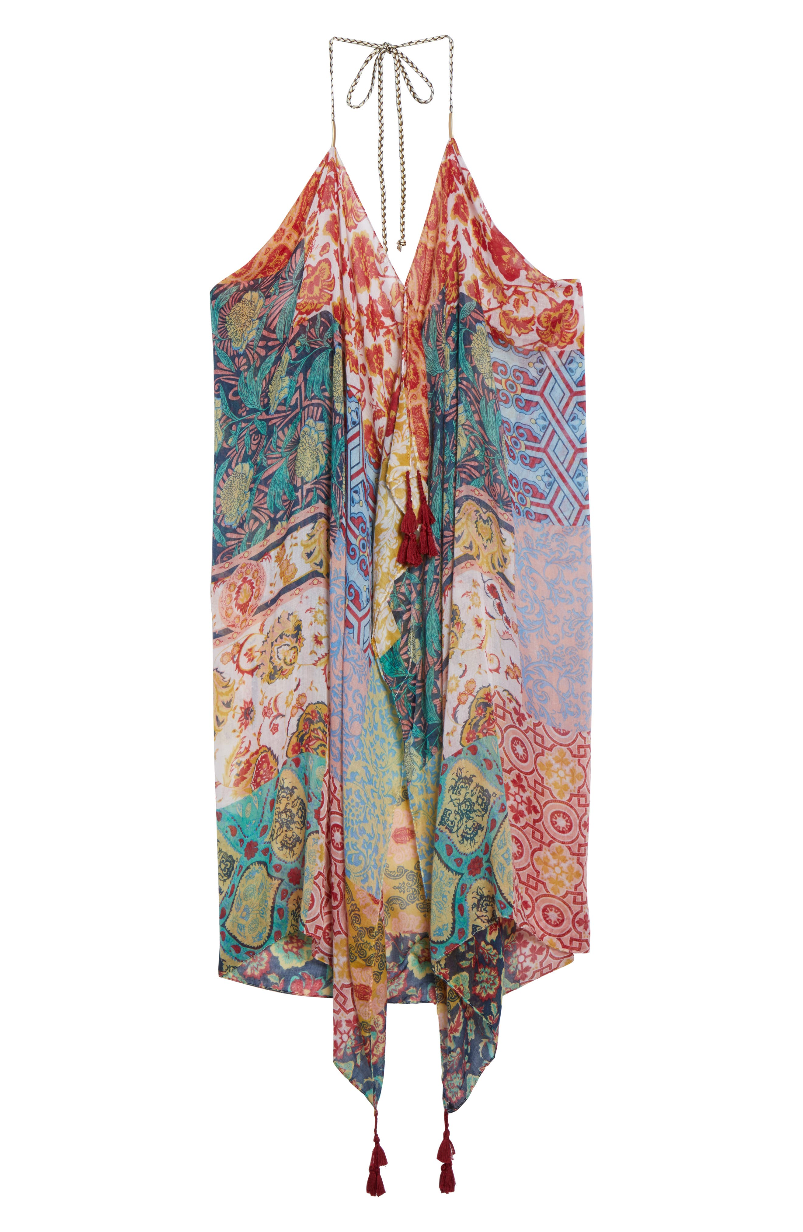 Beach to Street Cover-Up Dress,                             Alternate thumbnail 6, color,                             MULTI