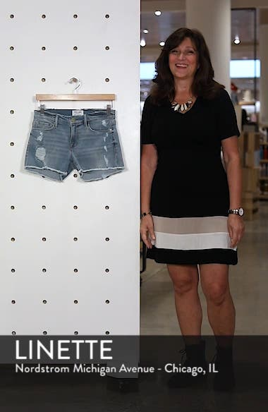 Le Cutoff Denim Shorts, sales video thumbnail