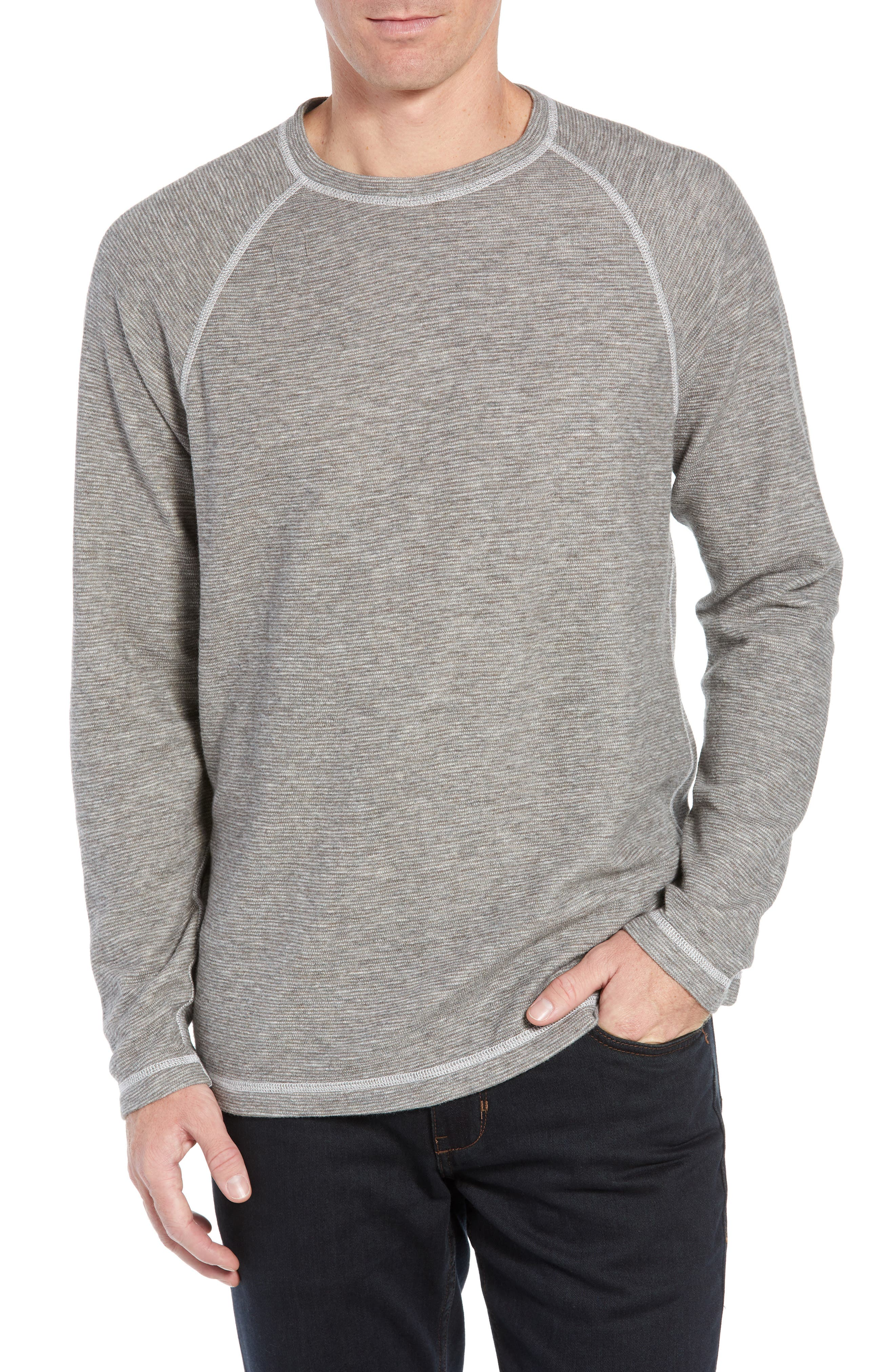 Fortuna Flip Regular Fit Shirt,                             Main thumbnail 1, color,                             TAUPE HEATHER