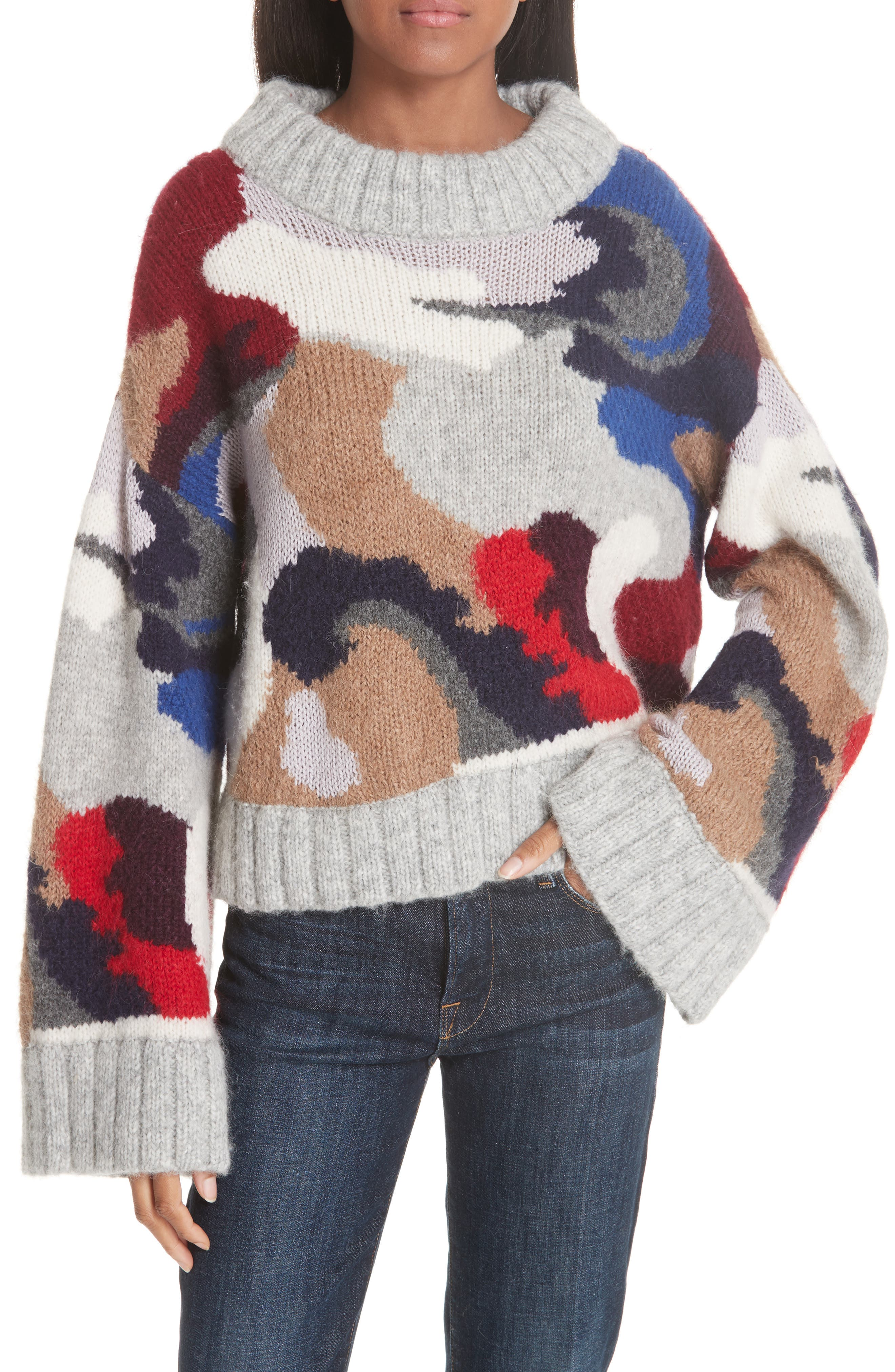 Kira Alpaca Blend Sweater,                             Main thumbnail 1, color,                             020
