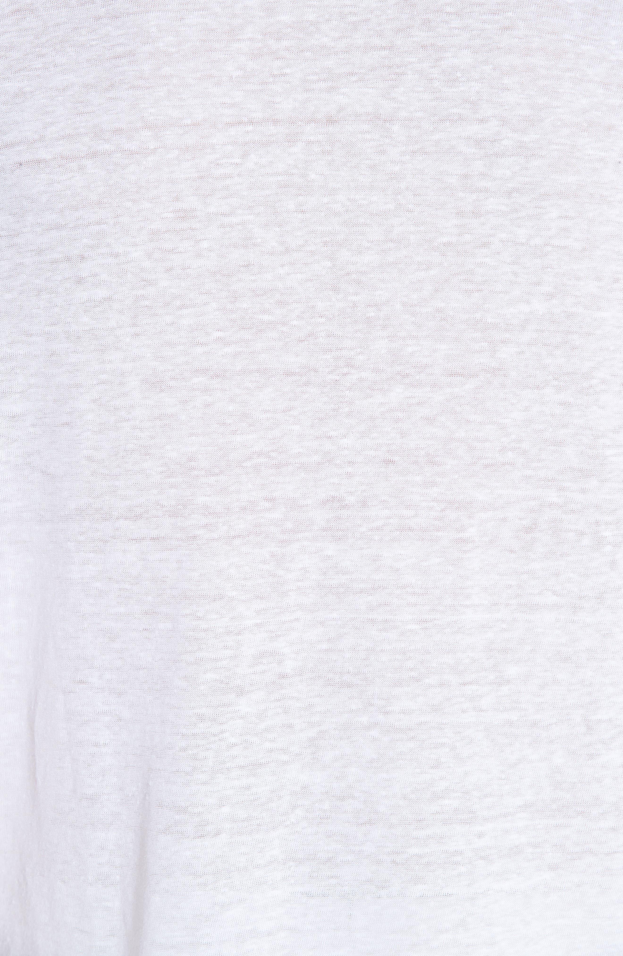 Jersey Linen Johnny Collar Polo,                             Alternate thumbnail 5, color,                             WHITE