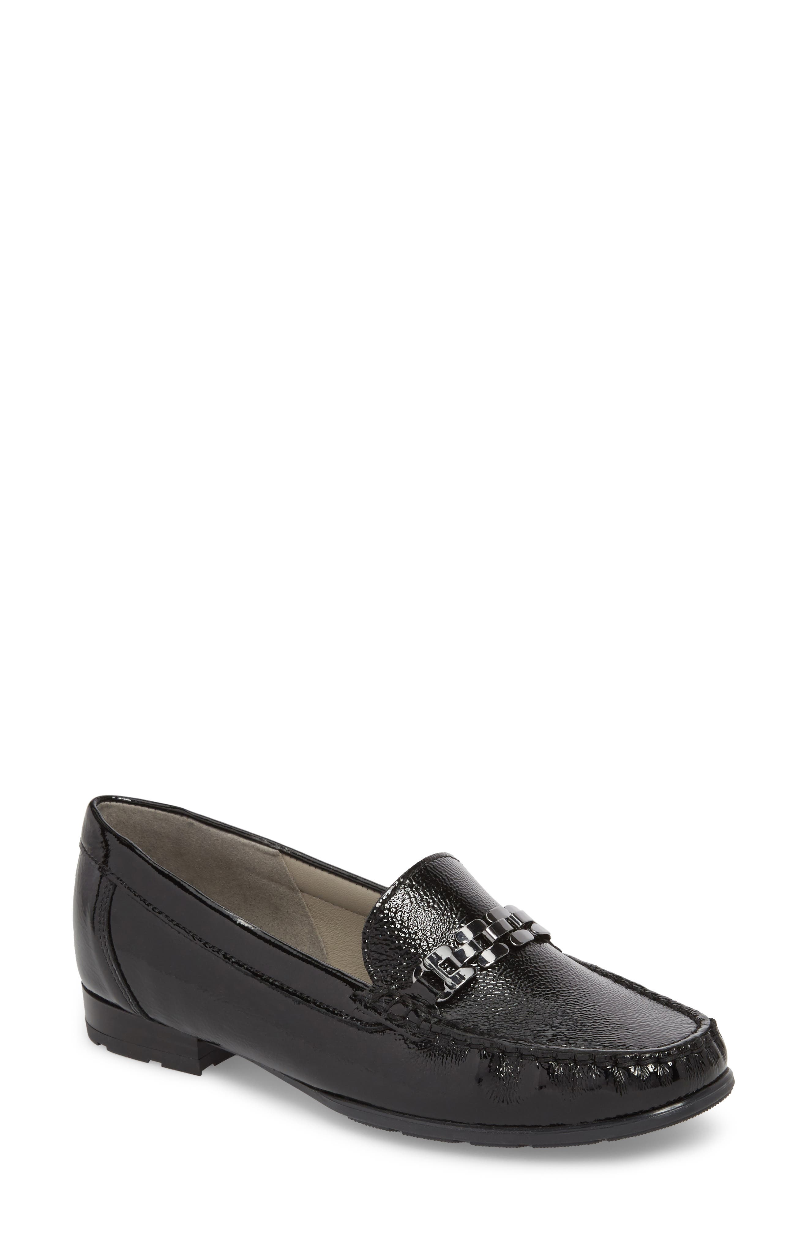 Natalya Loafer,                             Main thumbnail 1, color,                             BLACK LEATHER