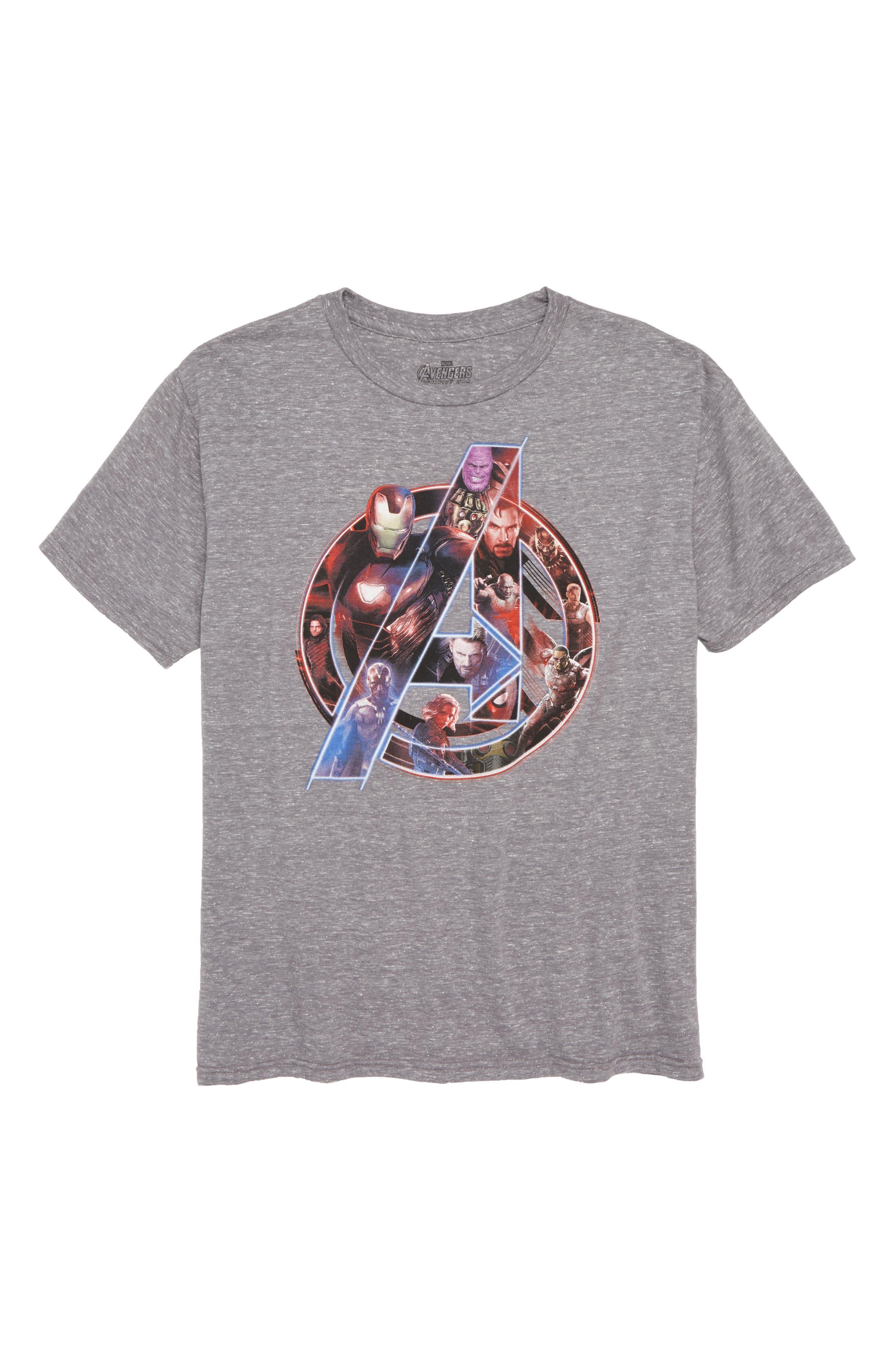 Infinity Wars Avengers Graphic T-Shirt,                             Main thumbnail 1, color,                             099