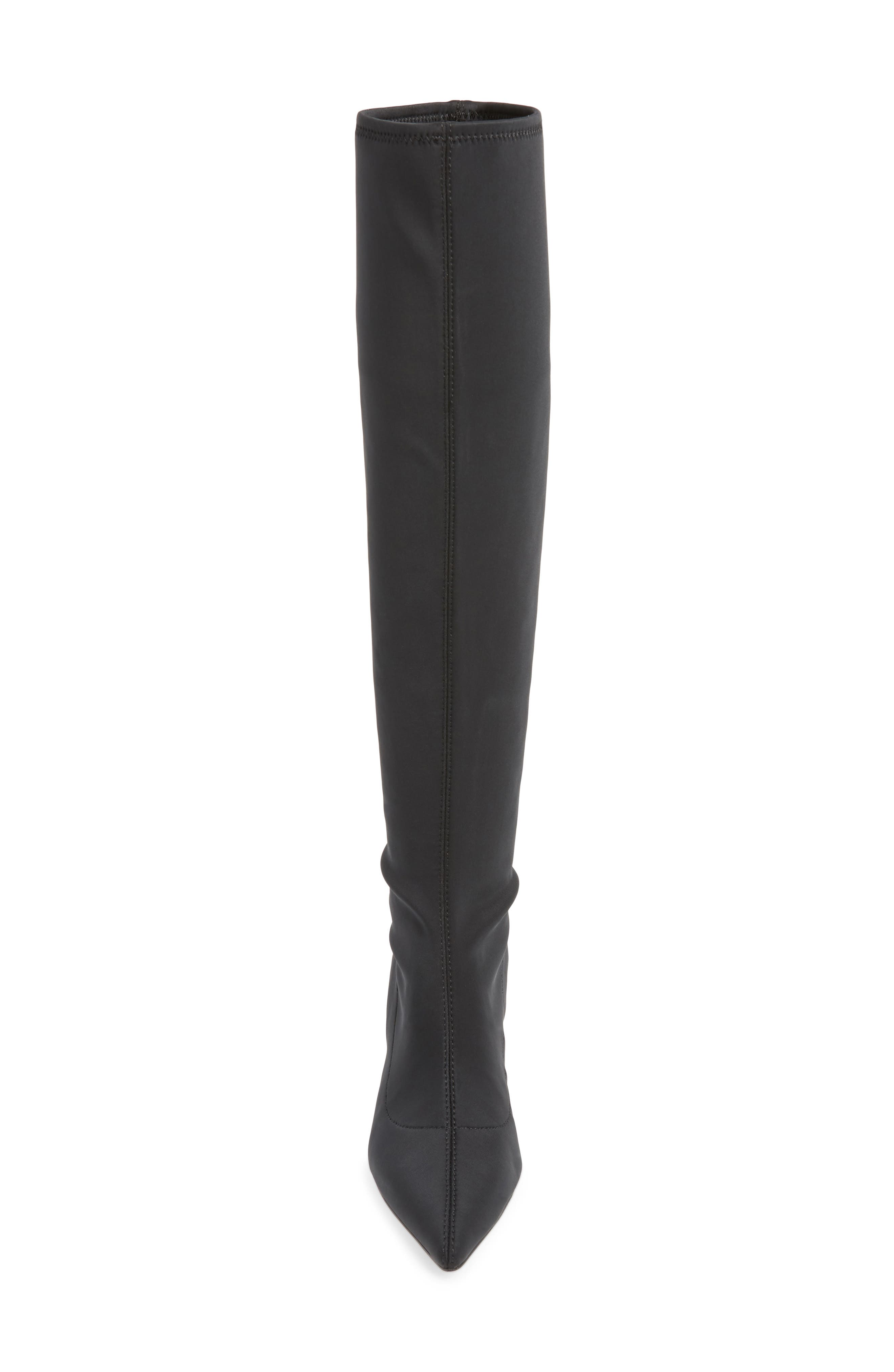 Aerin Over the Knee Boot,                             Alternate thumbnail 4, color,                             BLACK STRETCH SMOOTH