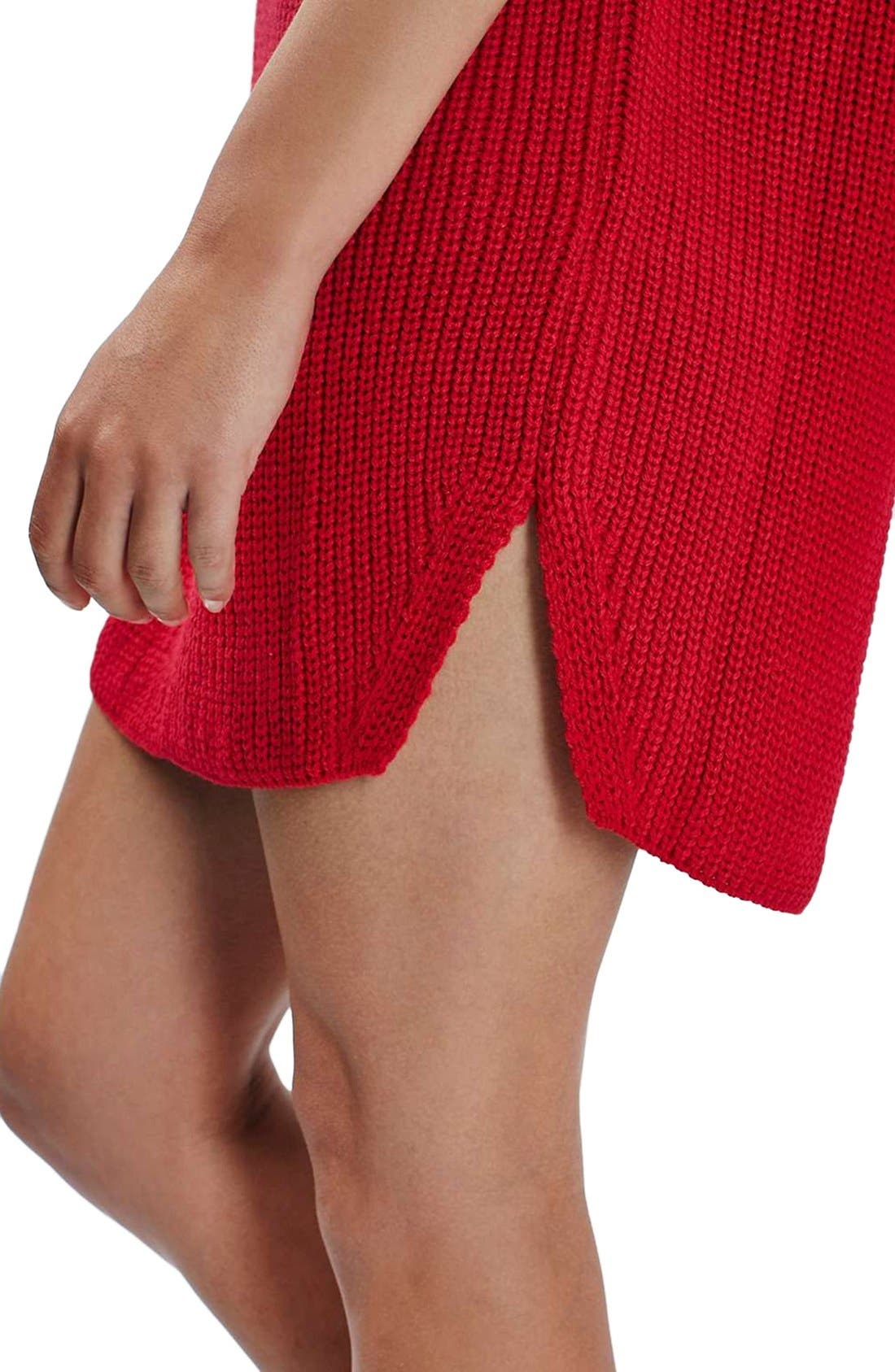 Ribbed Sweater Dress,                             Alternate thumbnail 5, color,                             600