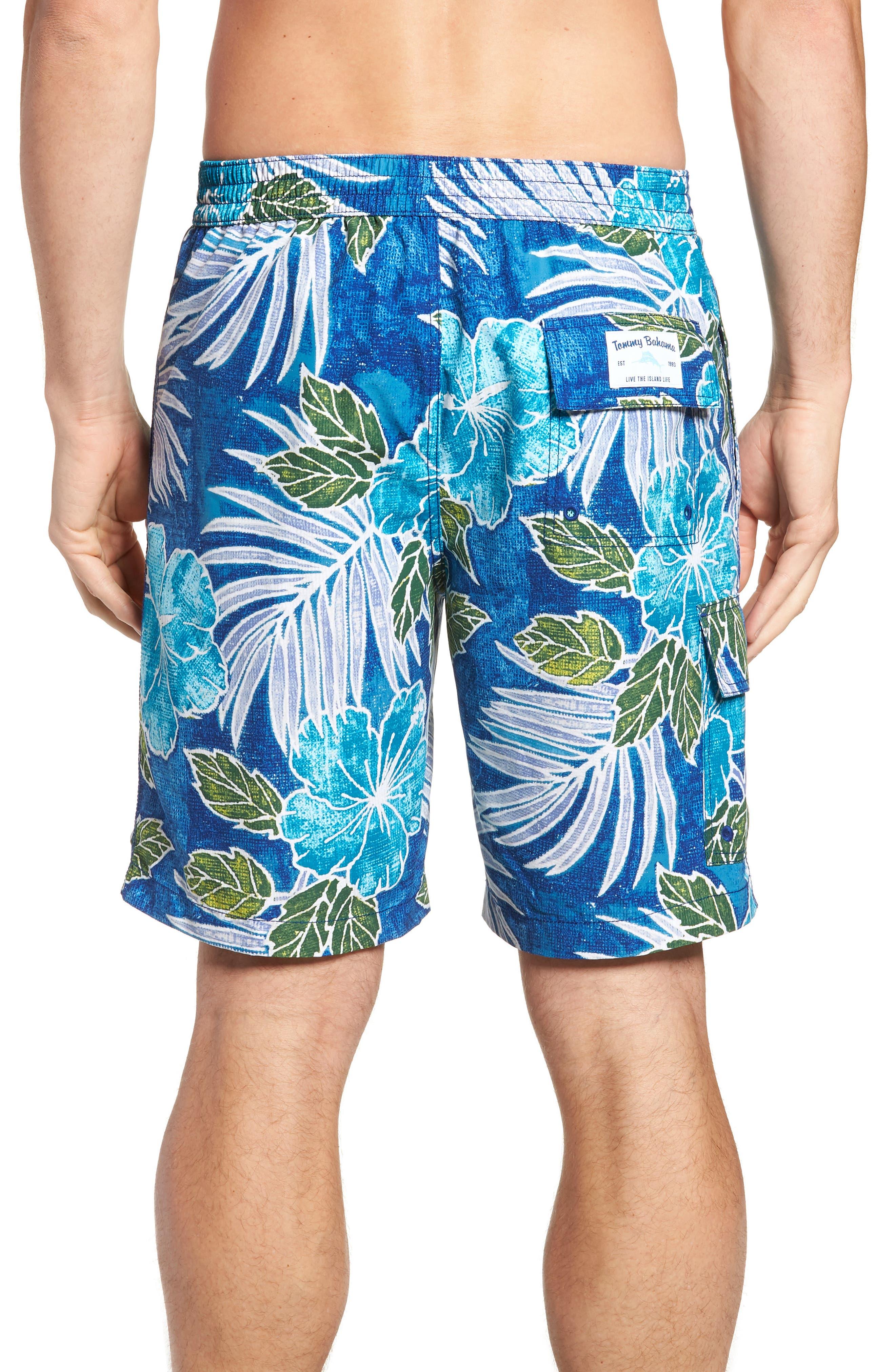 Baja Hibiscus Cove Board Shorts,                             Alternate thumbnail 2, color,                             DARK COBALT