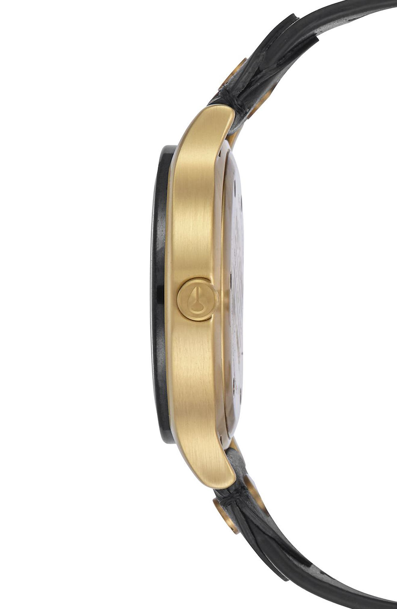 Sala Leather Strap Watch, 38mm,                             Alternate thumbnail 3, color,                             001