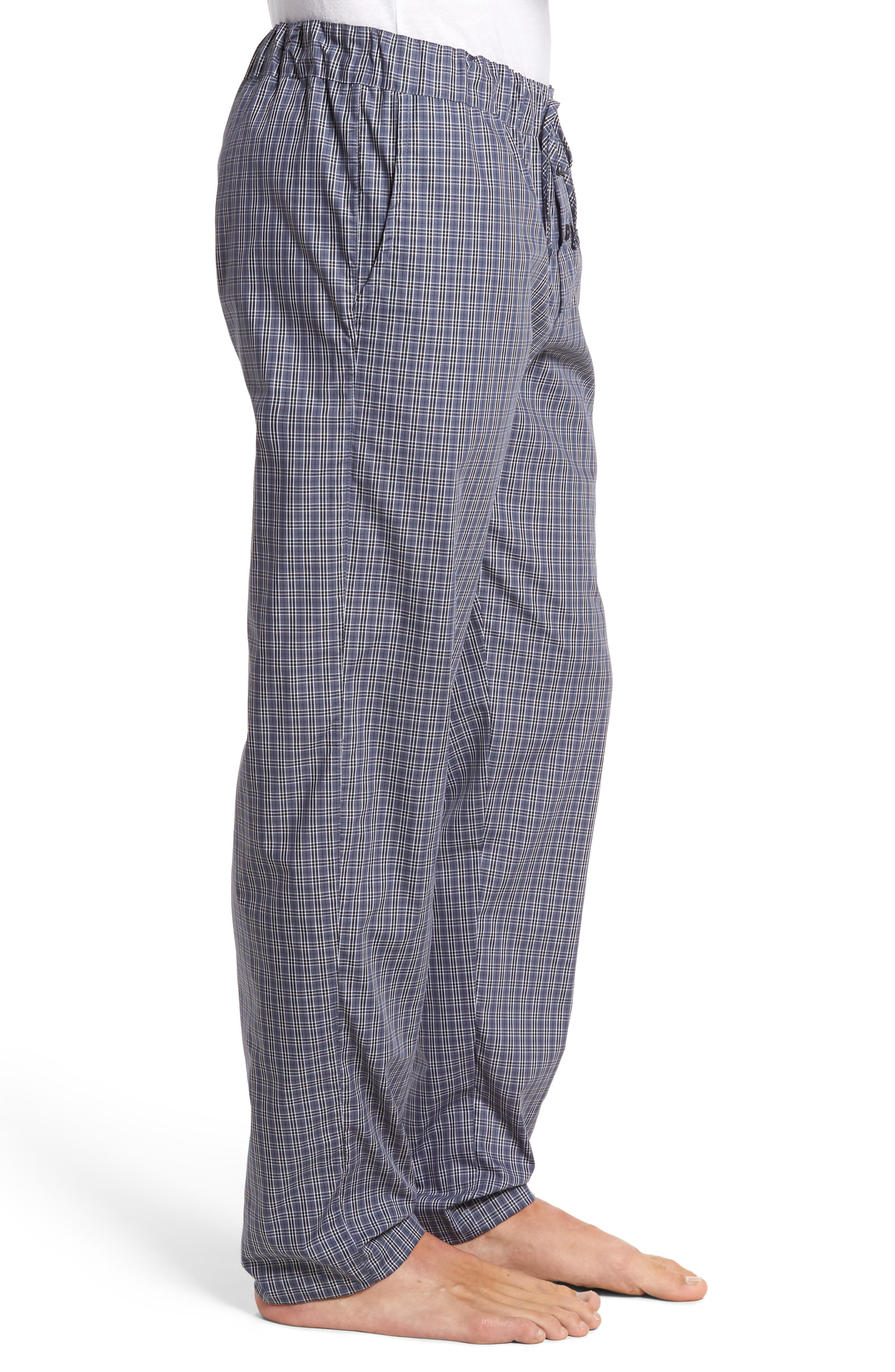 Night & Day Woven Lounge Pants,                             Alternate thumbnail 3, color,                             GREY CHECK