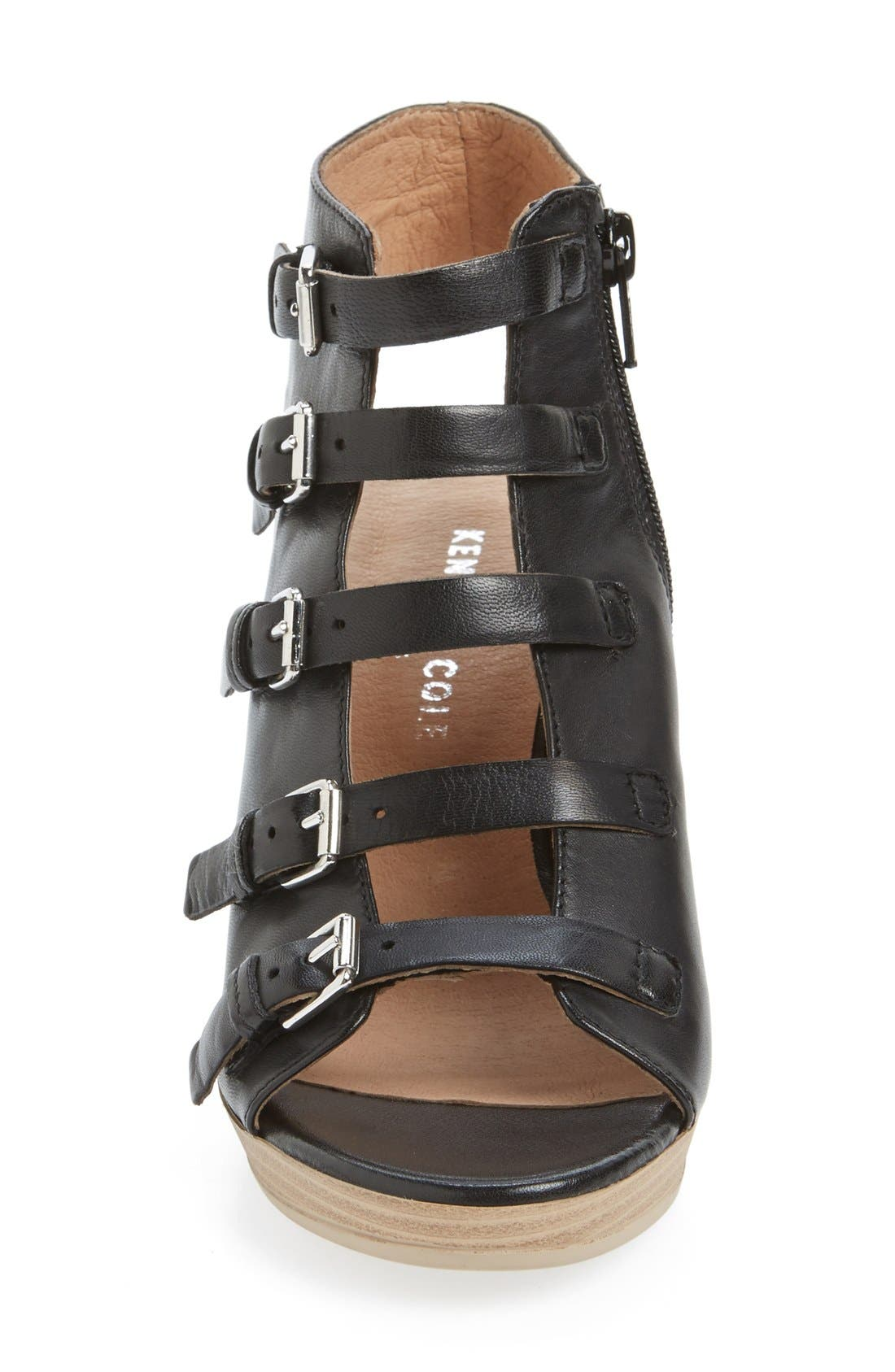 'Kennedy' Buckle Strap Block Heel Sandal,                             Alternate thumbnail 5, color,