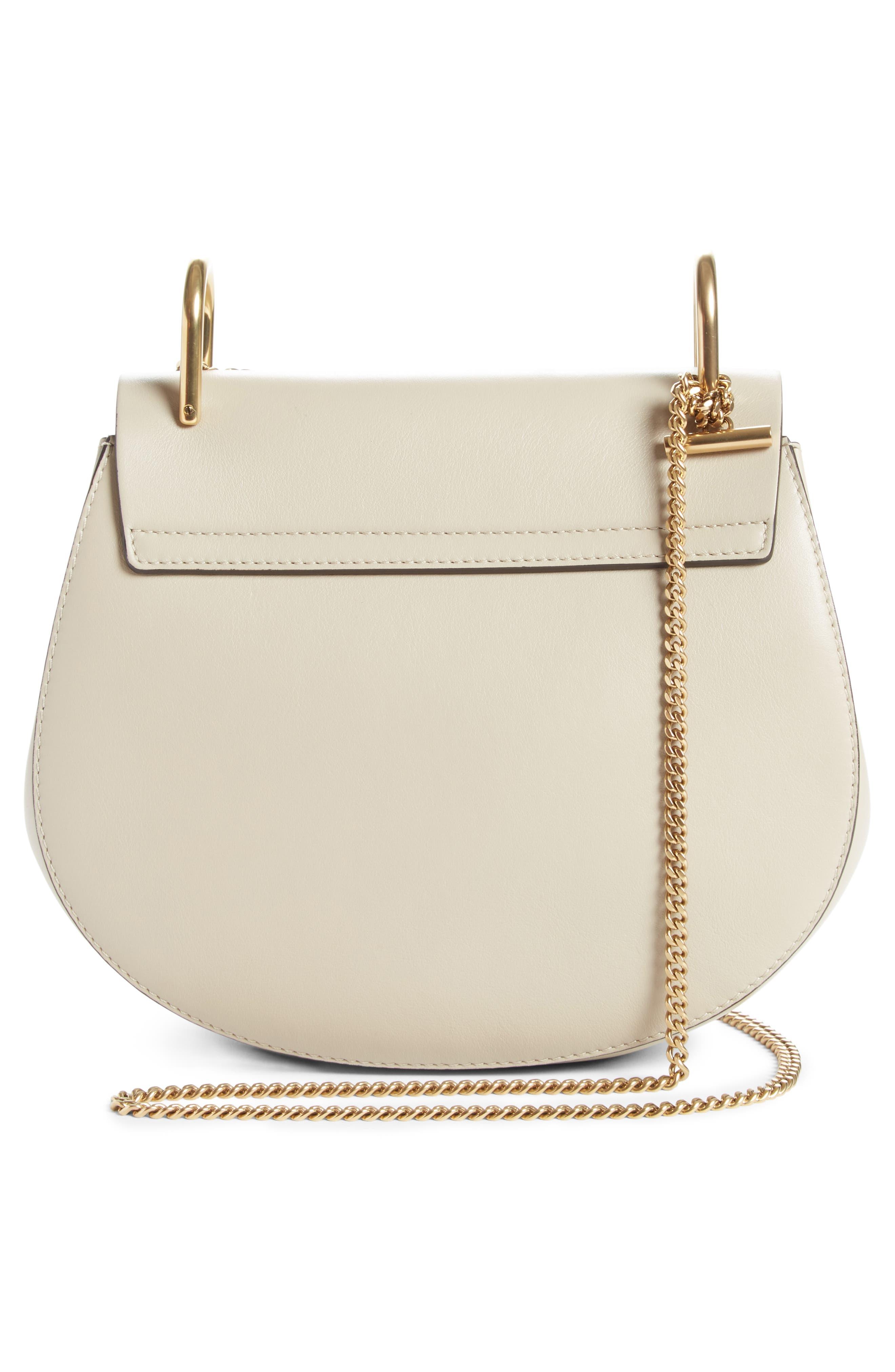 Small Drew Leather Shoulder Bag,                             Alternate thumbnail 3, color,                             052