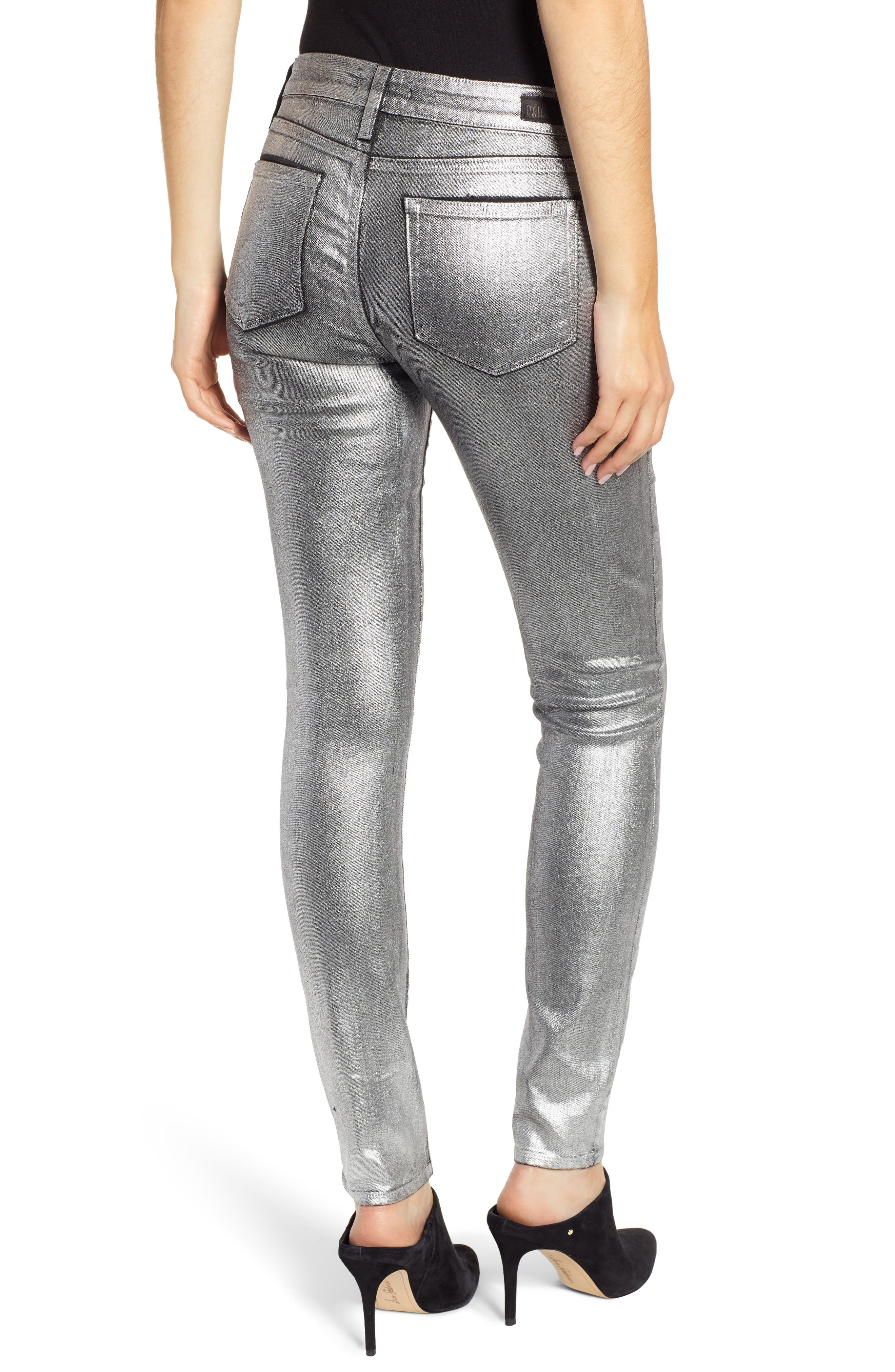Verdugo Skinny Jeans,                             Alternate thumbnail 2, color,                             SILVER GALAXY COATING