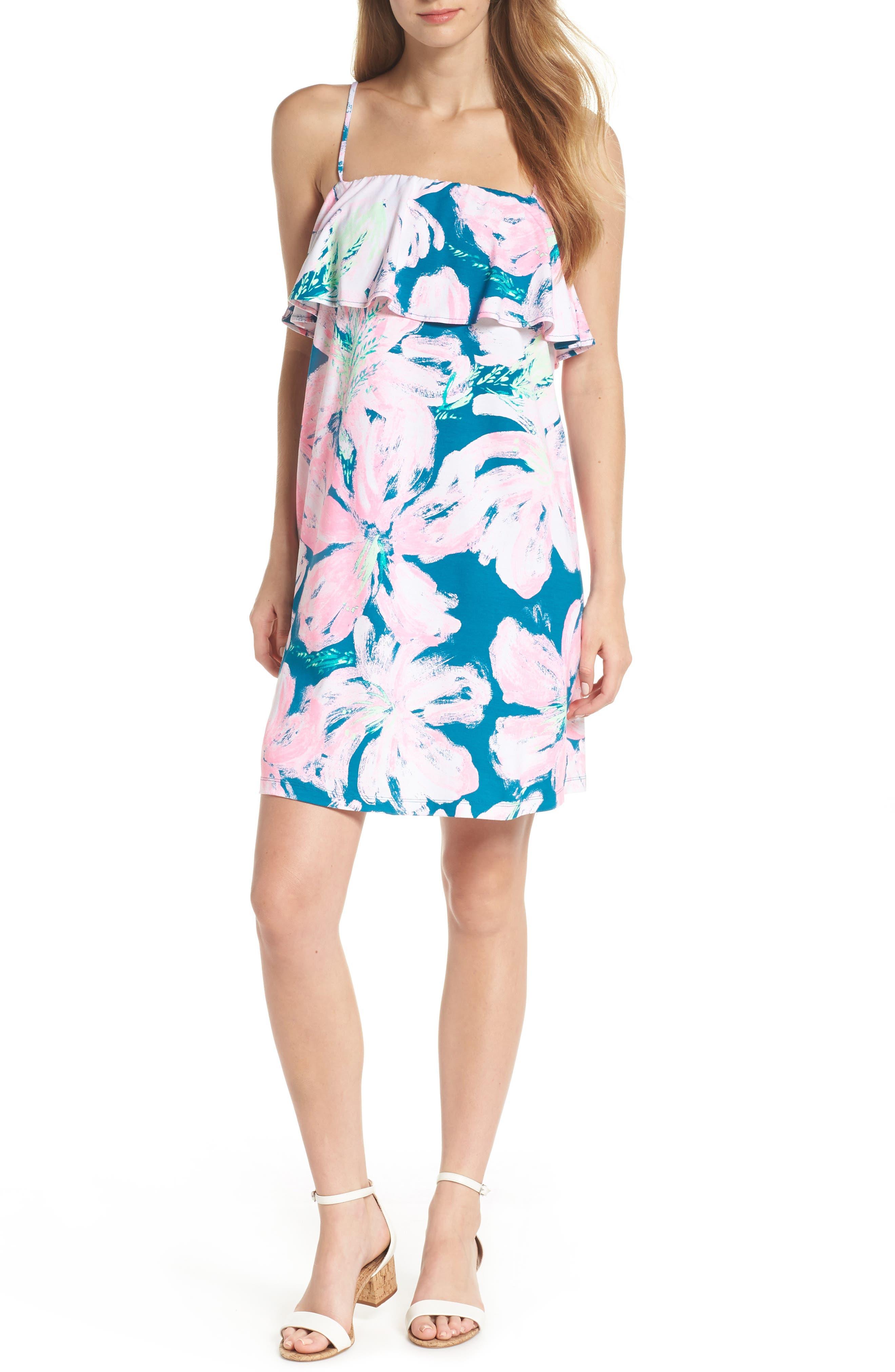 Annastasha Popover Shift Dress,                             Alternate thumbnail 5, color,                             440