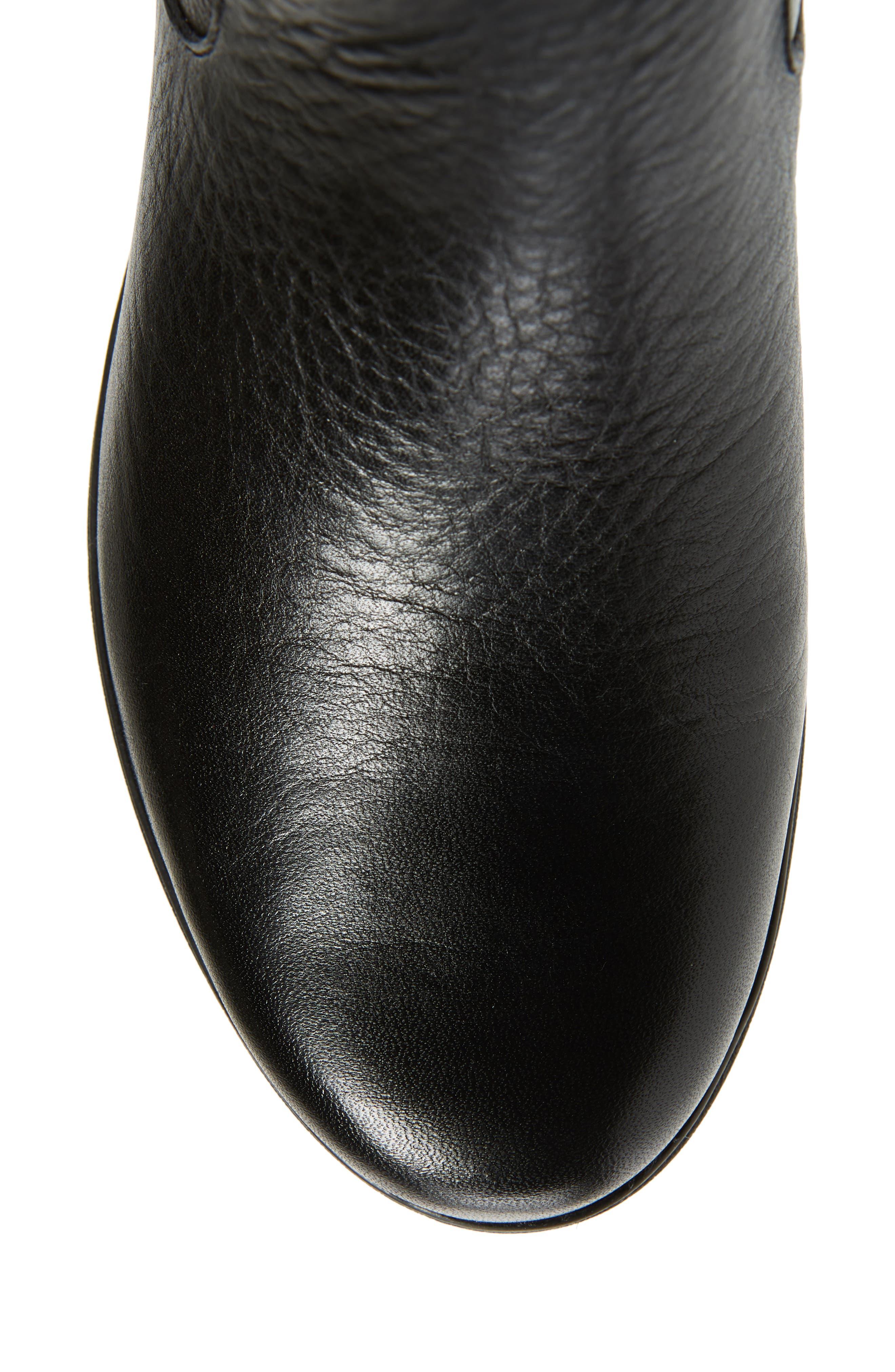 Tallara Esa Wedge Boot,                             Alternate thumbnail 5, color,                             BLACK LEATHER