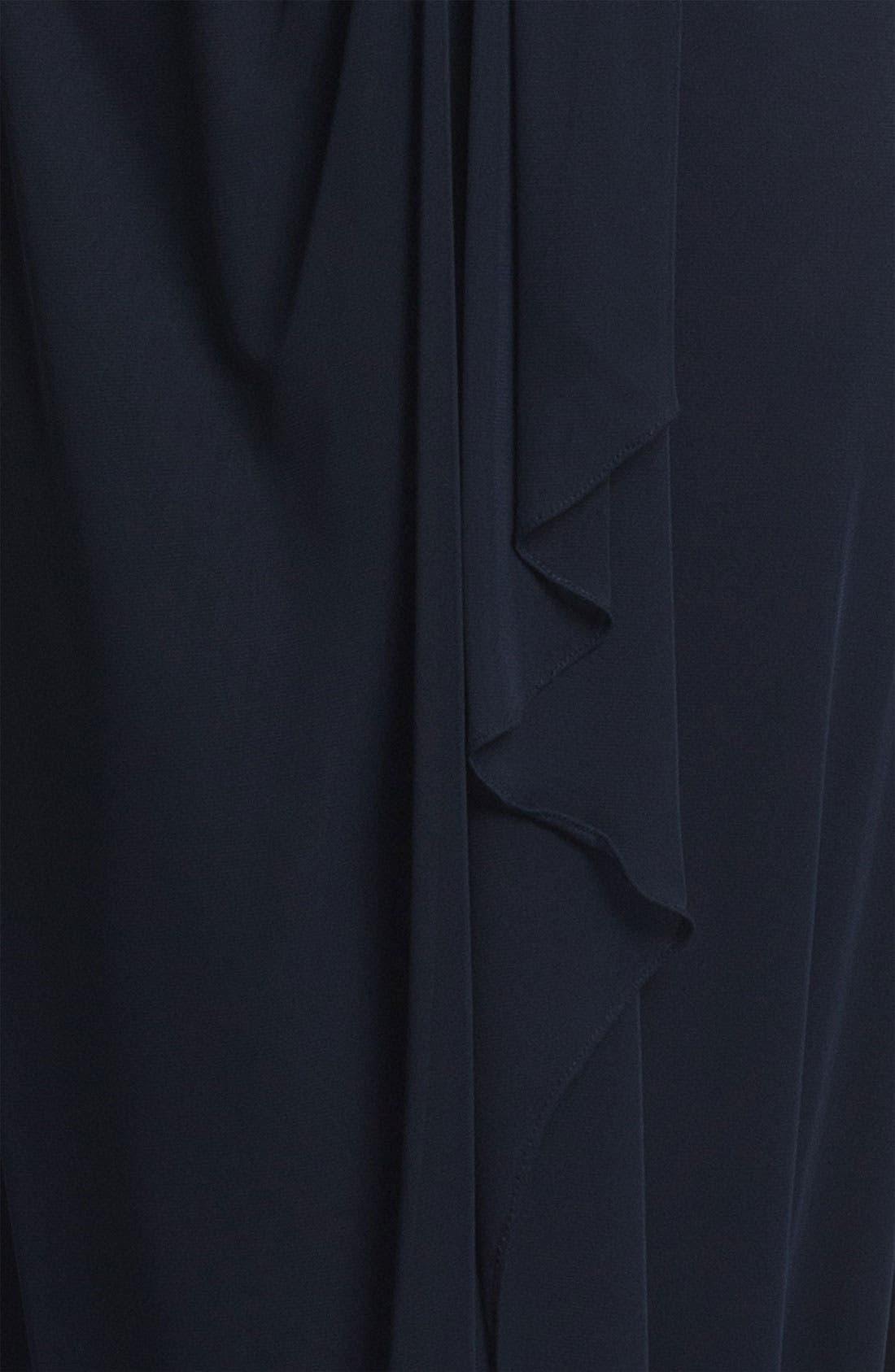 Matte Lace Chiffon Gown & Bolero,                             Alternate thumbnail 2, color,