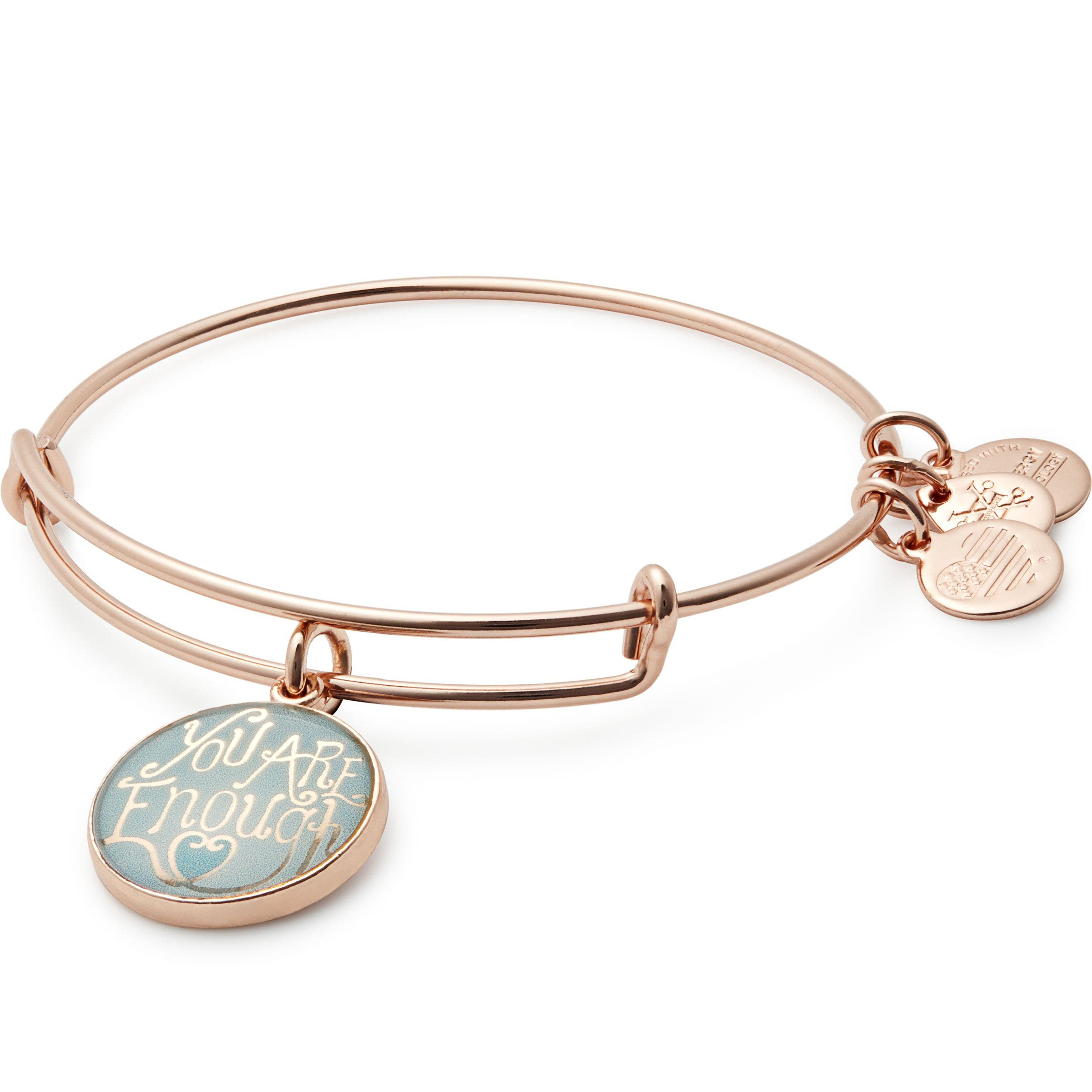 ALEX AND ANI You Are Enough Expandable Bangle, Main, color, 650