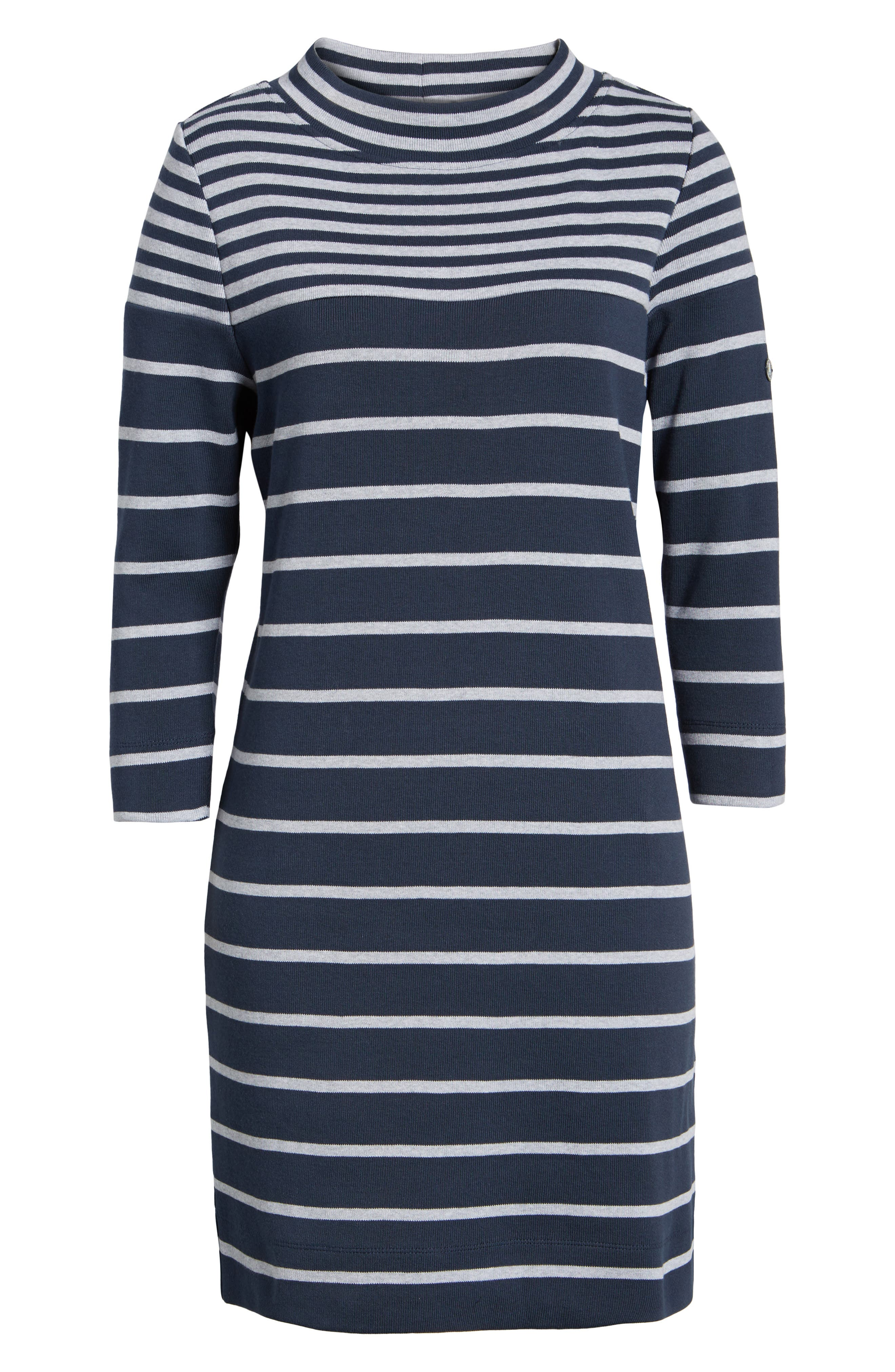 Seaburn Stripe Shift Dress,                             Alternate thumbnail 6, color,