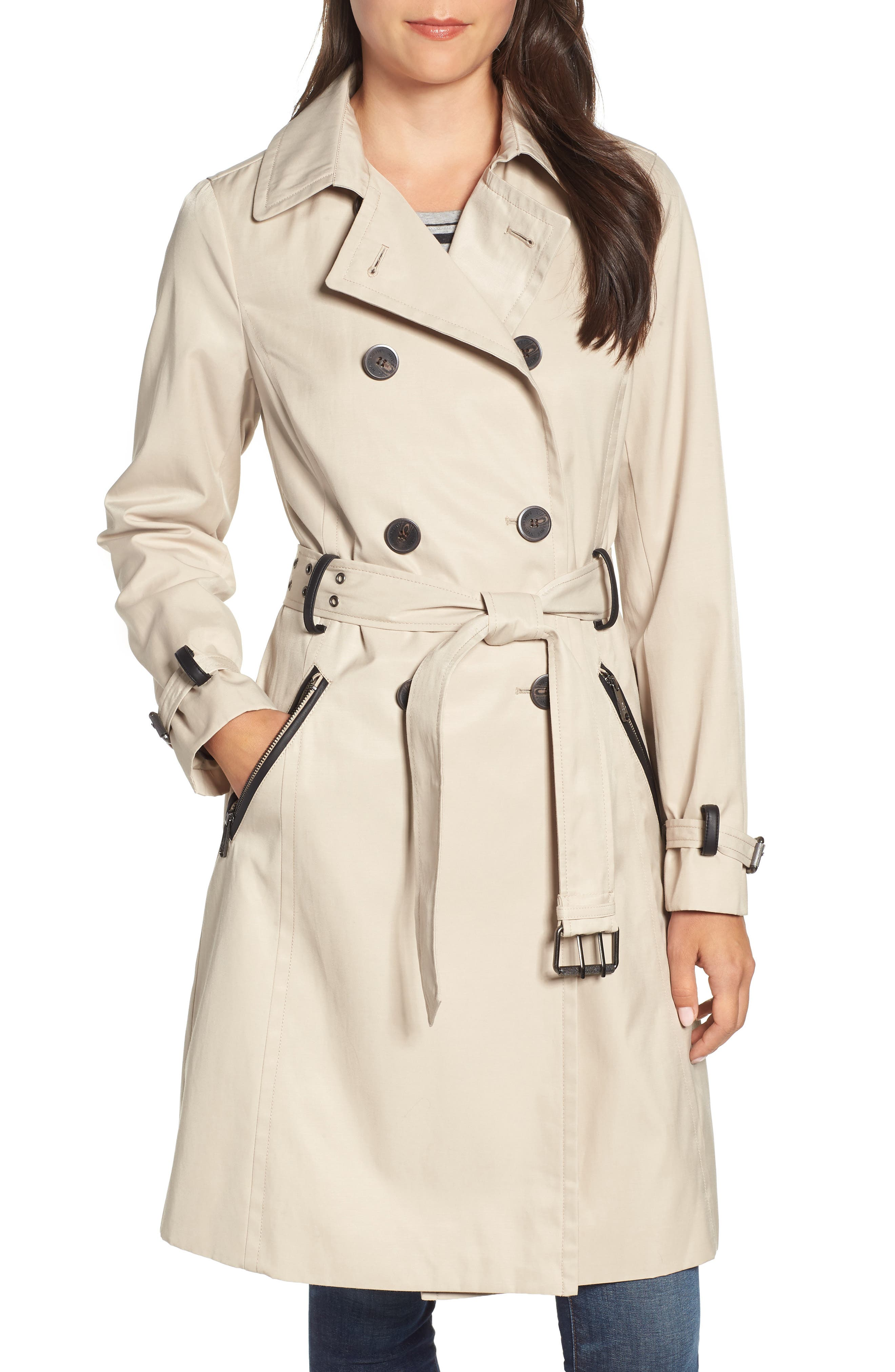 Packable Trench Coat, Main, color, 252