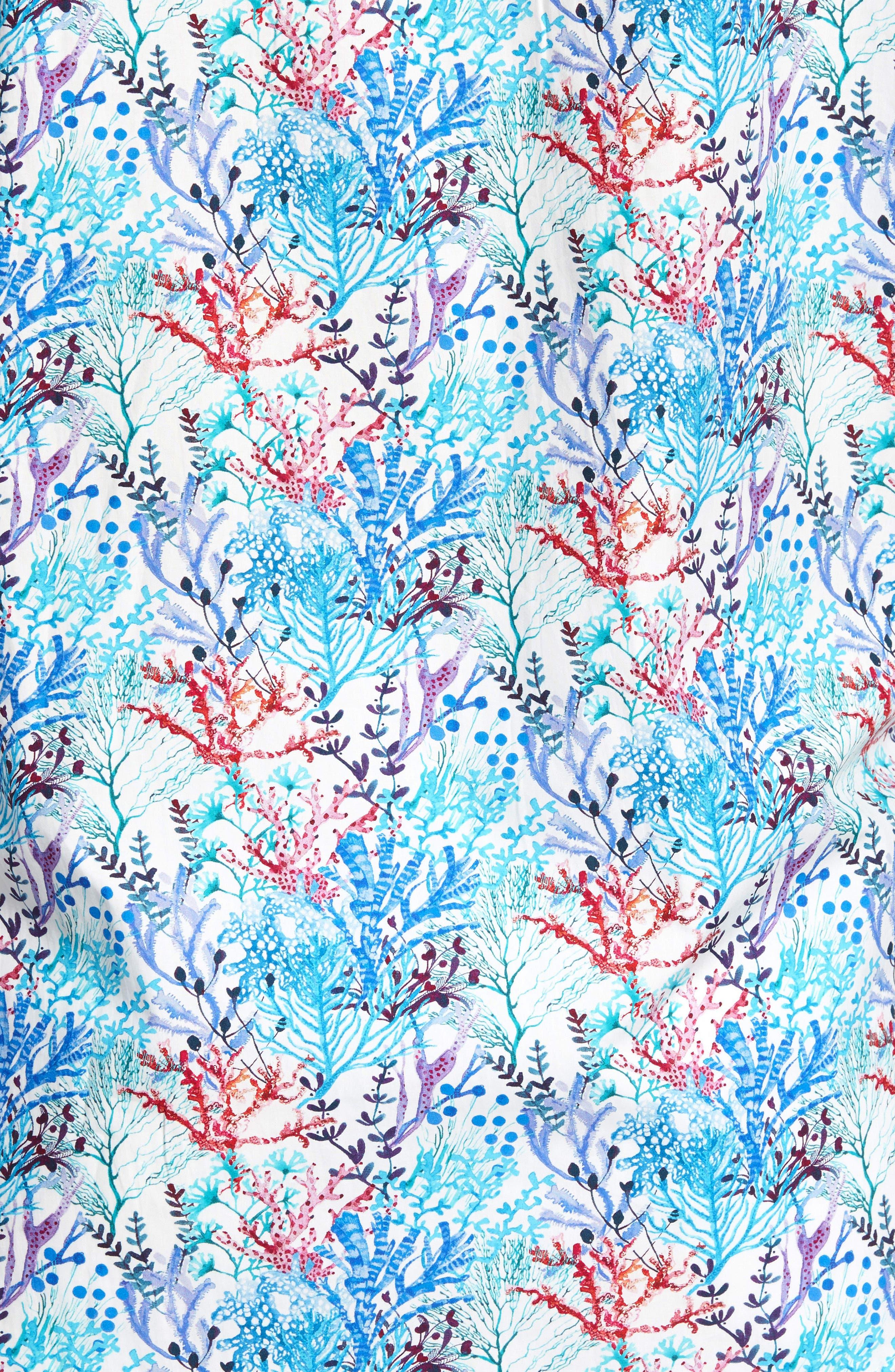 BUGATCHI,                             Classic Fit Floral Print Sport Shirt,                             Alternate thumbnail 5, color,                             425