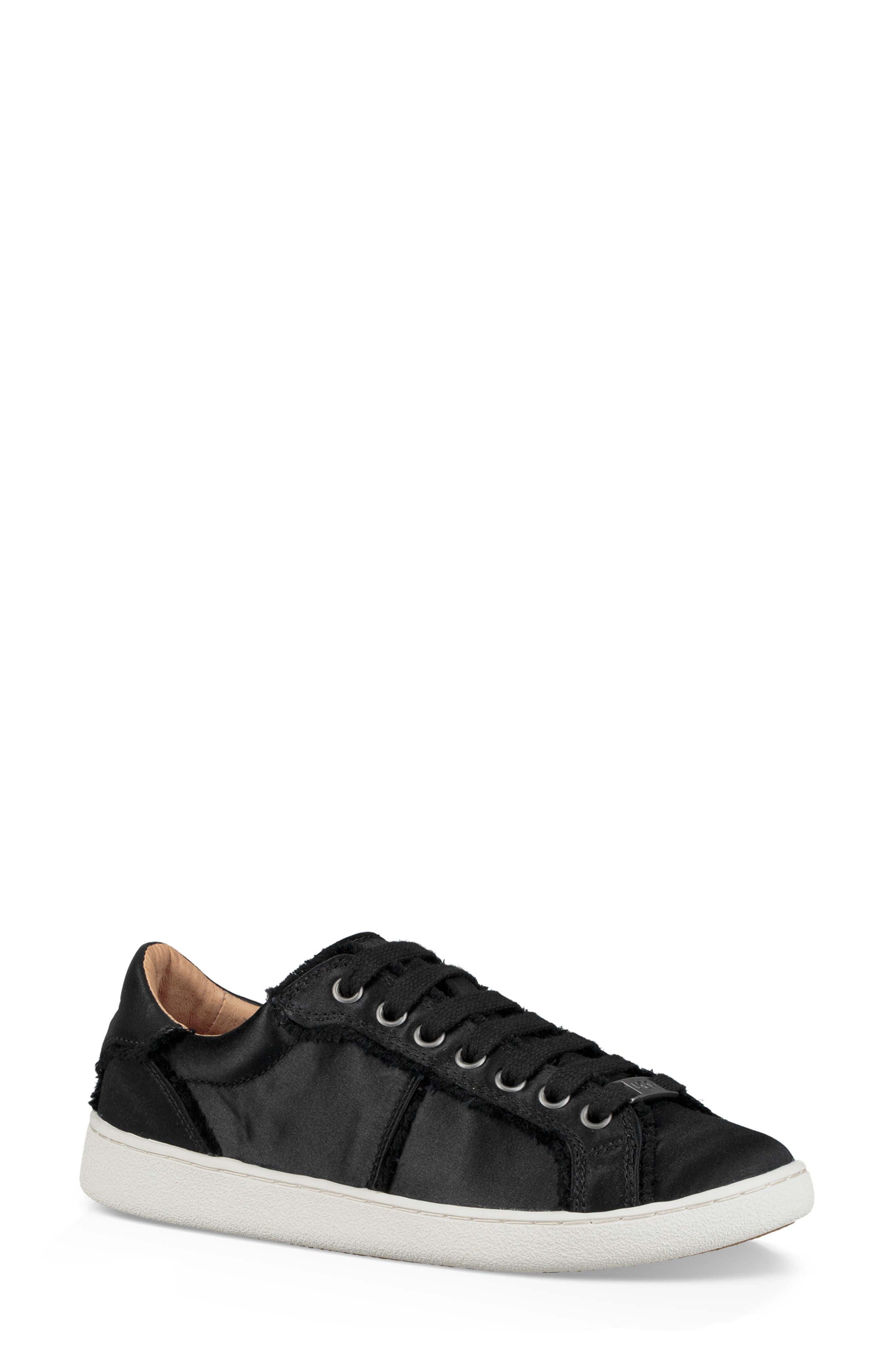 Milo Spill Seam Sneaker,                             Main thumbnail 1, color,                             BLACK FABRIC
