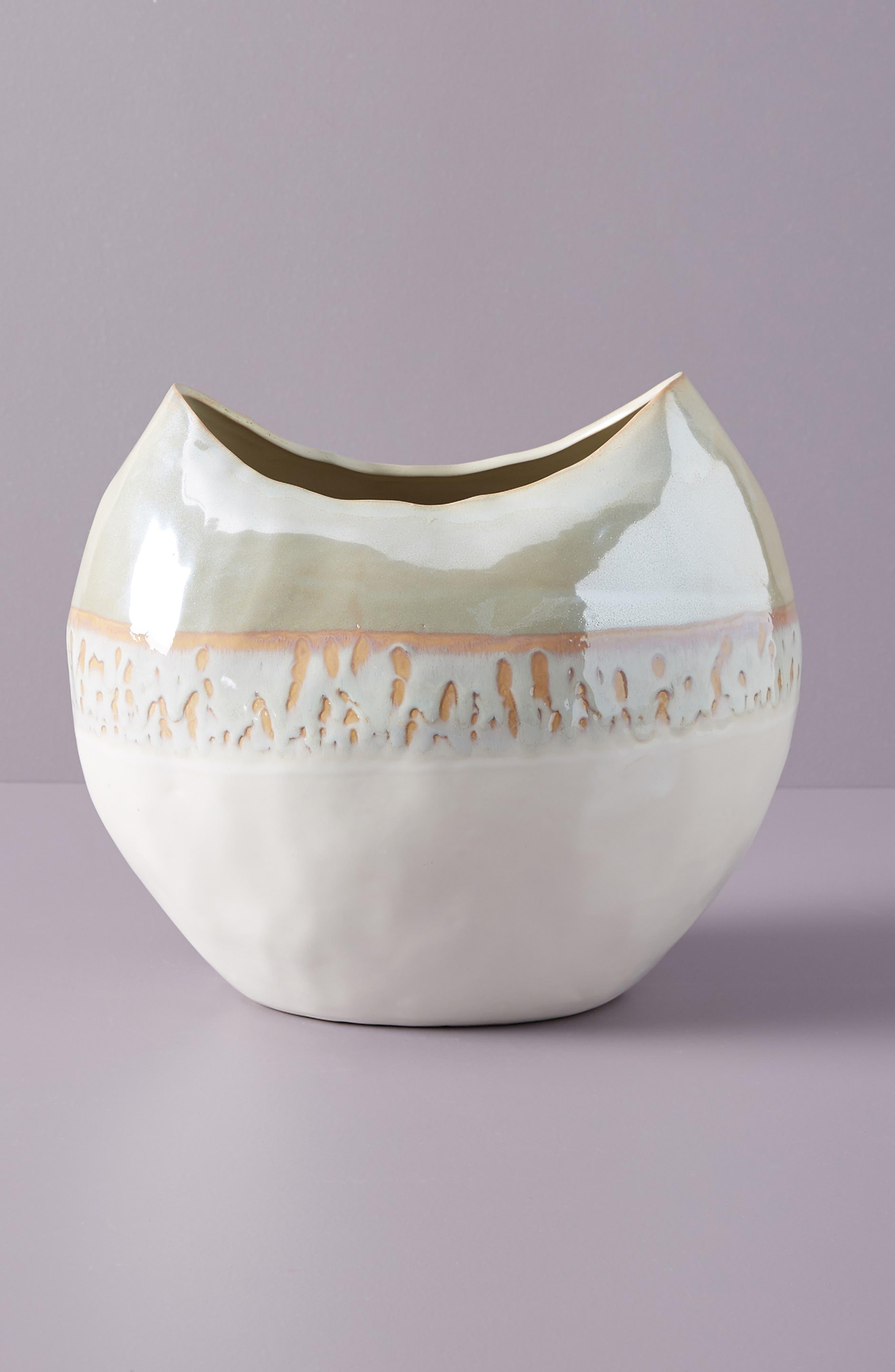 Crescent Moon Vase,                             Alternate thumbnail 2, color,                             WHITE LUSTER