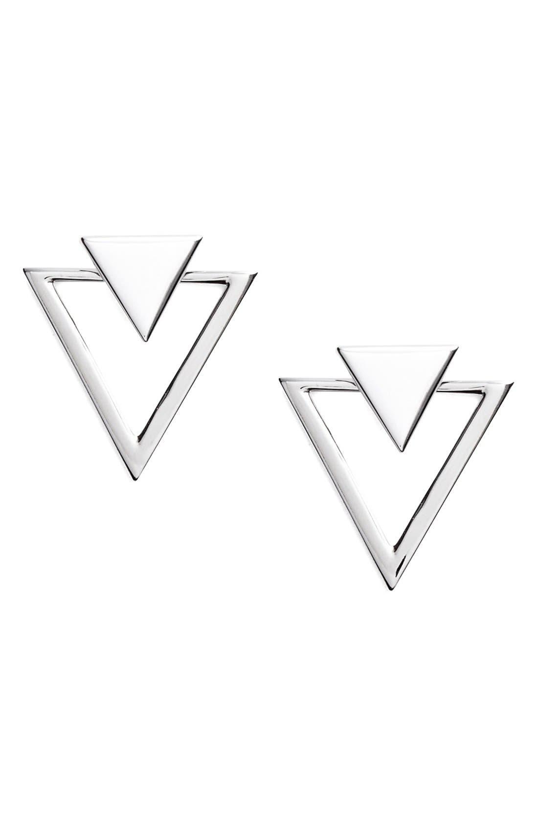 Triangle Stud Earrings,                             Main thumbnail 3, color,