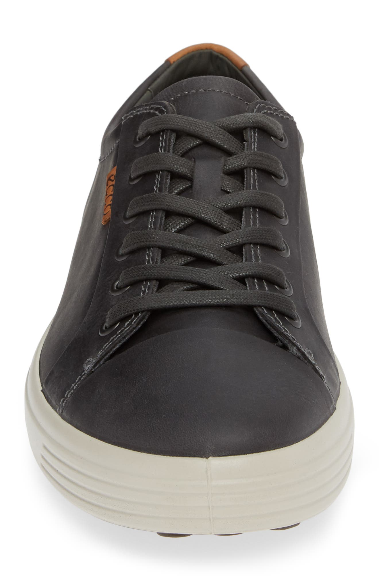 ECCO,                             Soft VII Lace-Up Sneaker,                             Alternate thumbnail 4, color,                             GREY OILED NUBUCK
