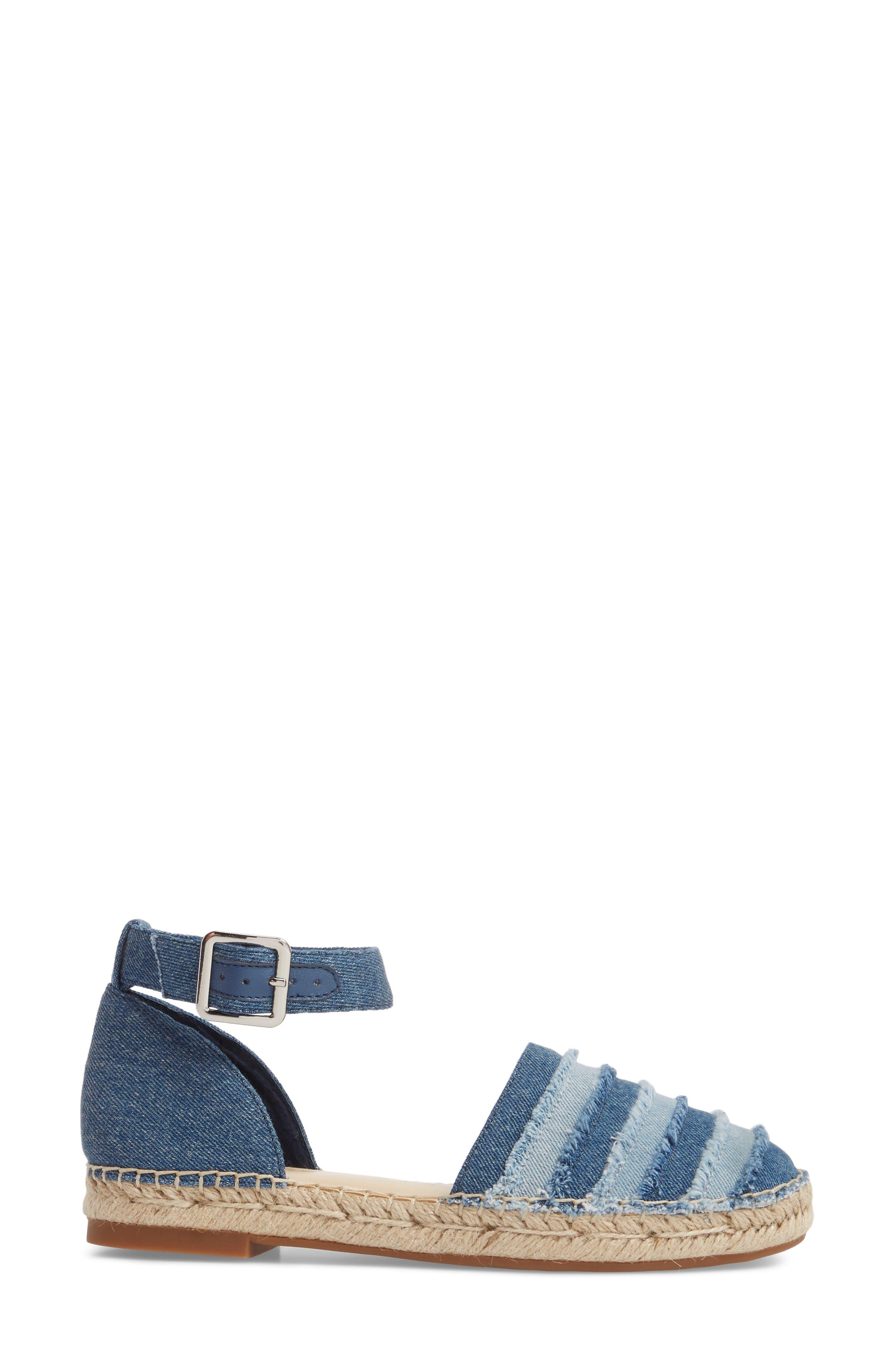 Stacie Espadrille Sandal,                             Alternate thumbnail 3, color,                             DARK BLUE