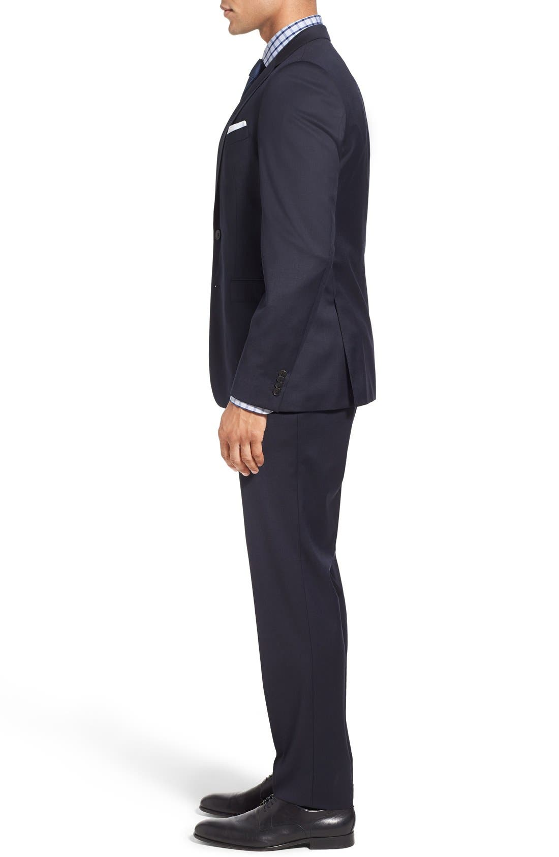 Ryan/Win Extra Trim Fit Solid Wool Suit,                             Alternate thumbnail 11, color,                             DARK BLUE