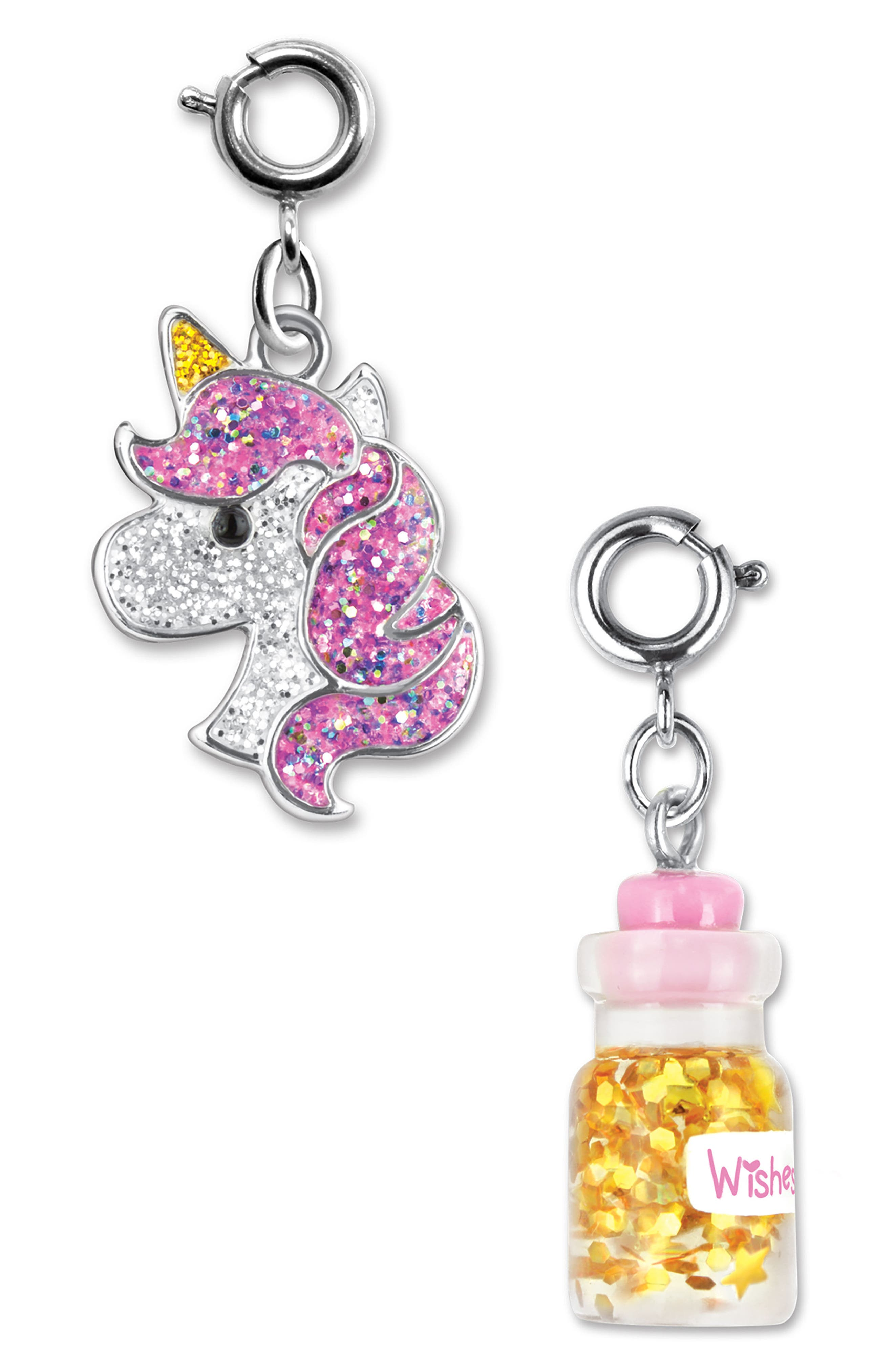 CHARM IT!<sup>®</sup> 2-Pack Glitter Unicorn & Wishes Bottle Charms,                             Alternate thumbnail 2, color,                             MULTI