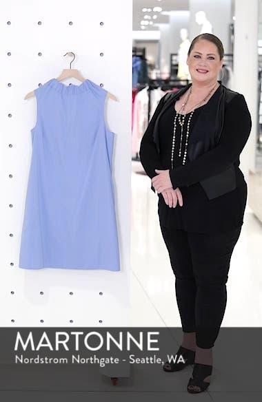 Stretch Cotton Poplin Shift Dress, sales video thumbnail