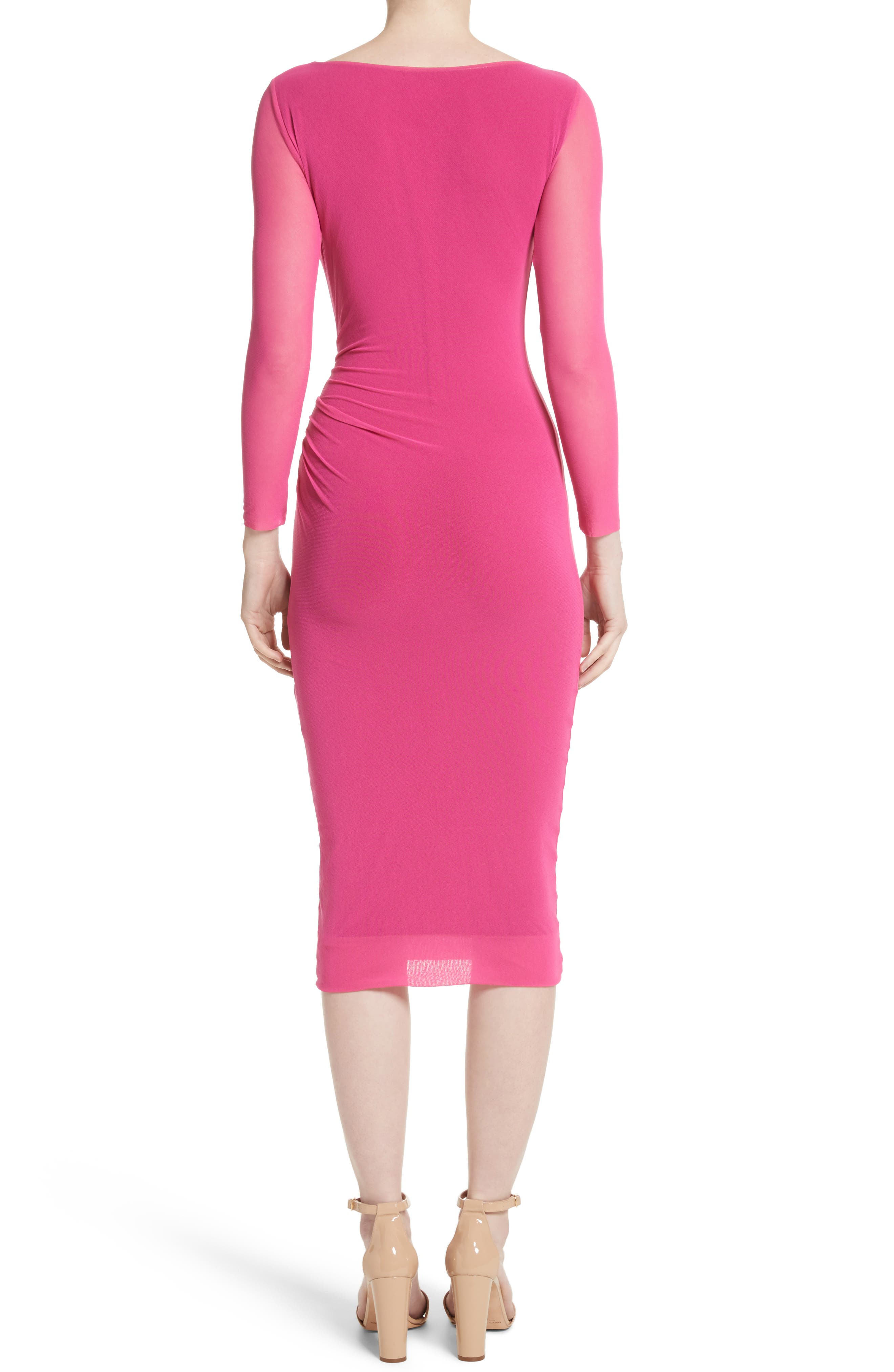 Ruched Tulle Dress,                             Alternate thumbnail 4, color,