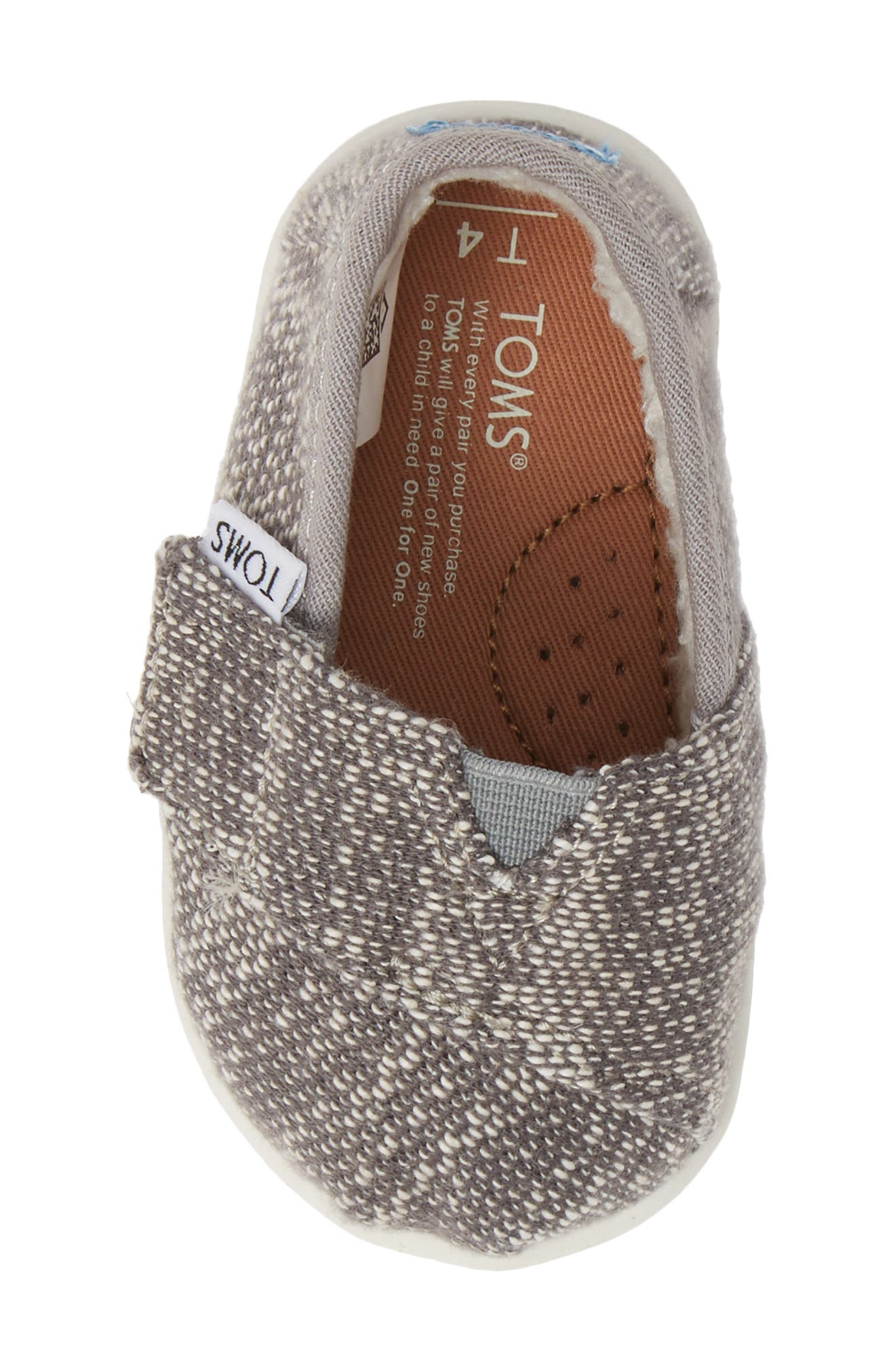 Classic Alpargata Slip-On,                             Alternate thumbnail 5, color,                             SHADE OBLIQUE/ FAUX SHEARLING