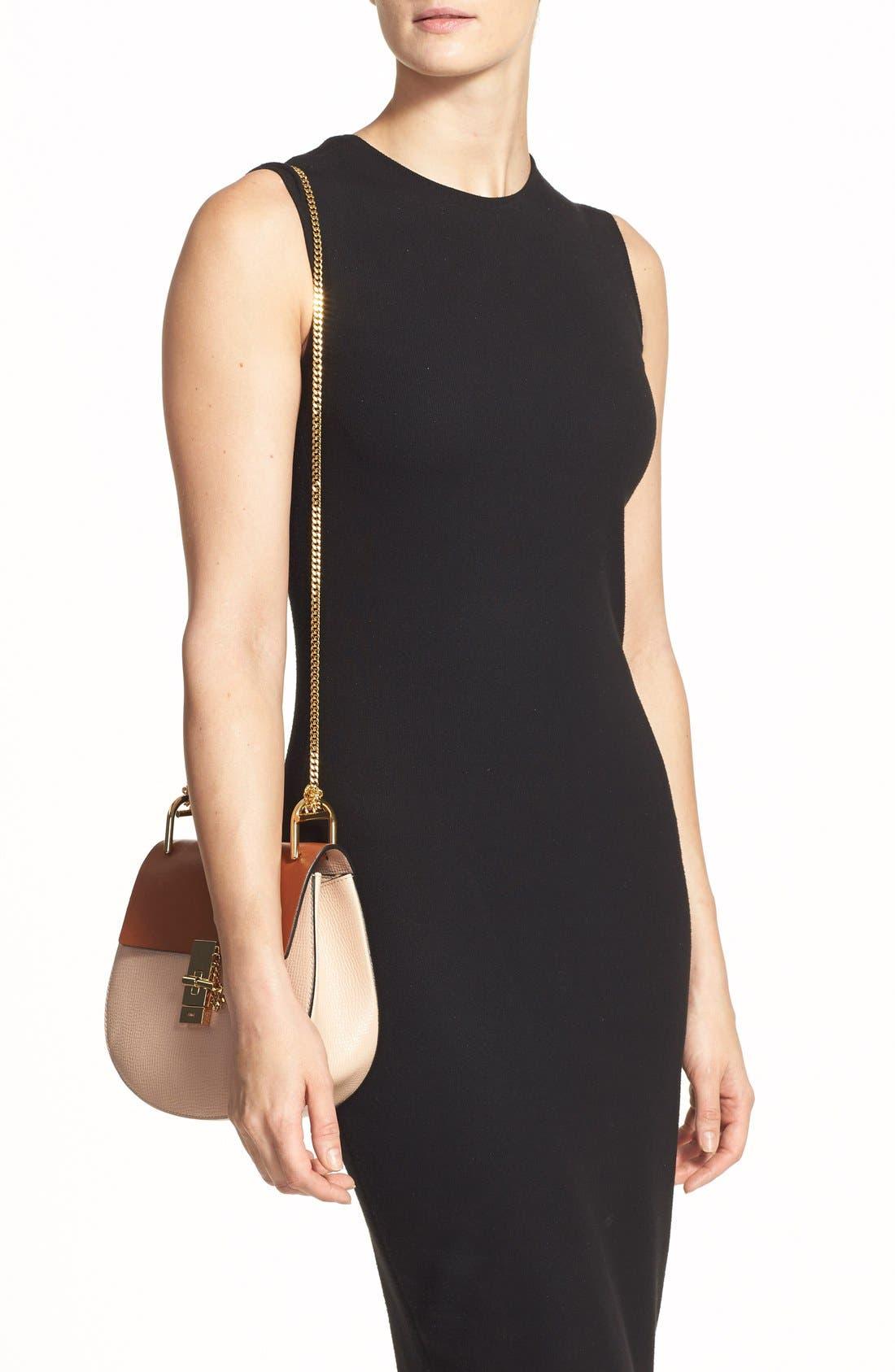 'Small Drew' Leather Shoulder Bag,                             Alternate thumbnail 4, color,                             250