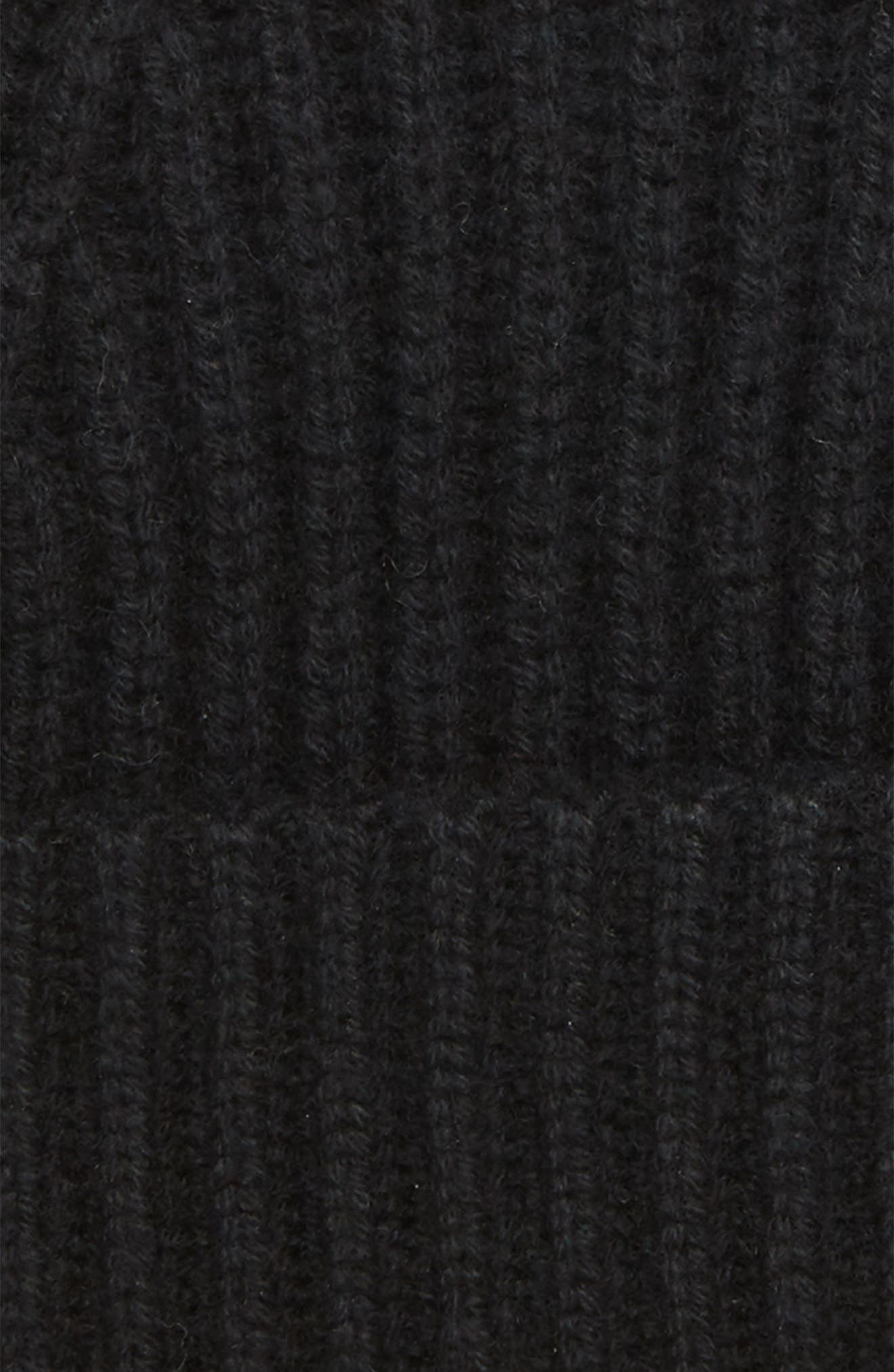 Cashmere Knit Cap,                             Alternate thumbnail 2, color,                             BLACK