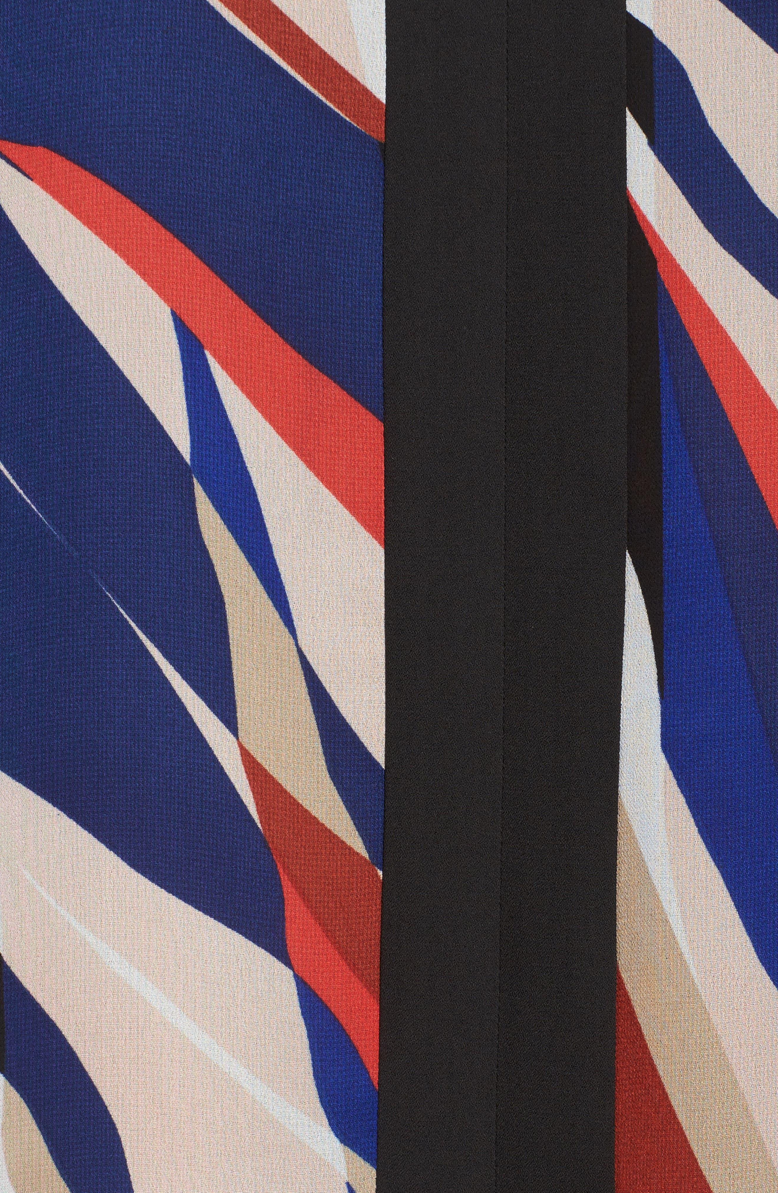 Graphic Zebra Flutter Top,                             Alternate thumbnail 5, color,                             010