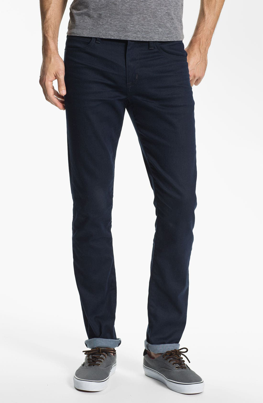 Super Slim Straight Leg Jeans,                             Alternate thumbnail 4, color,                             020