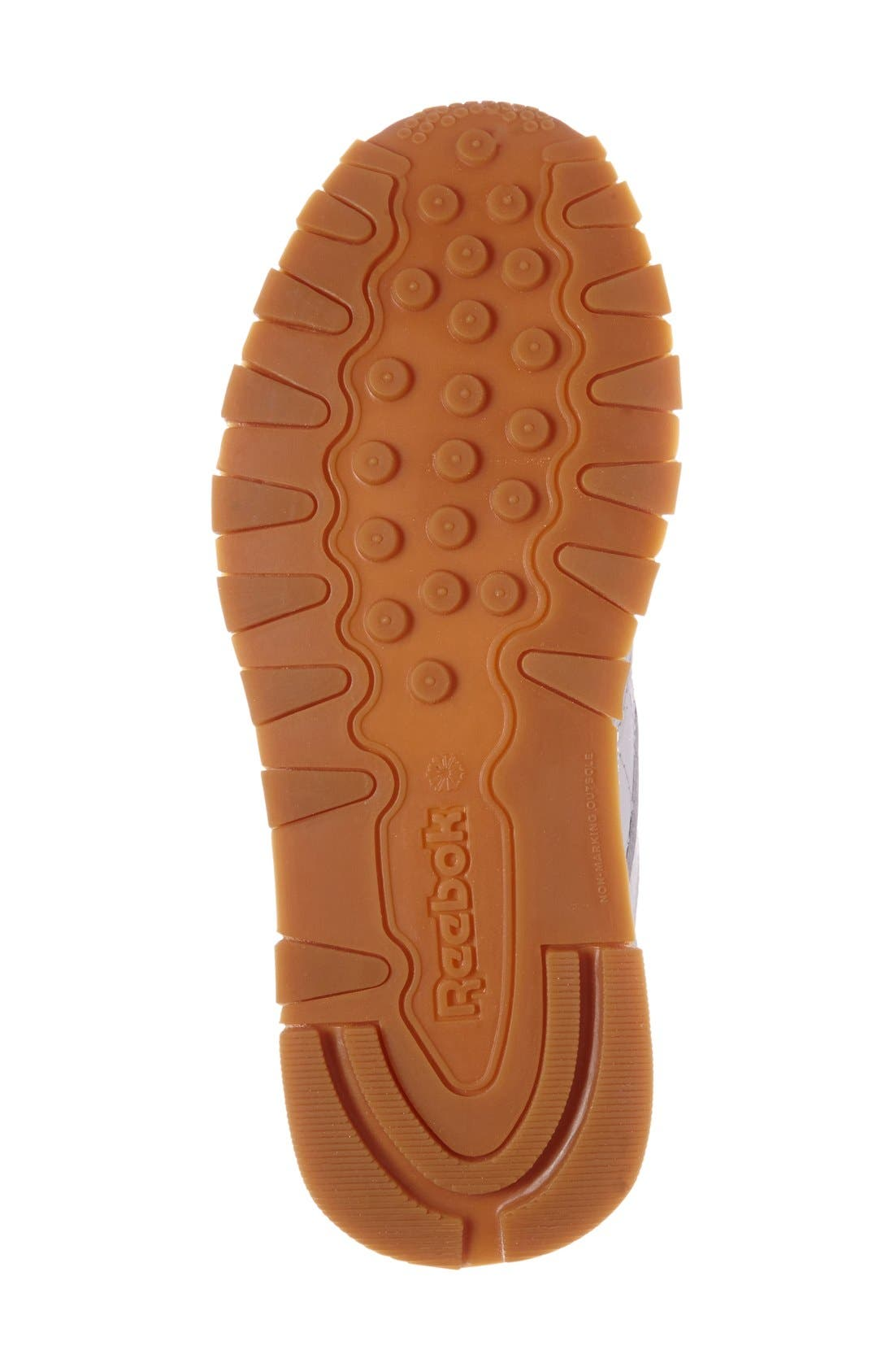 Classic Leather Sneaker,                             Alternate thumbnail 8, color,                             WHITE/ GUM