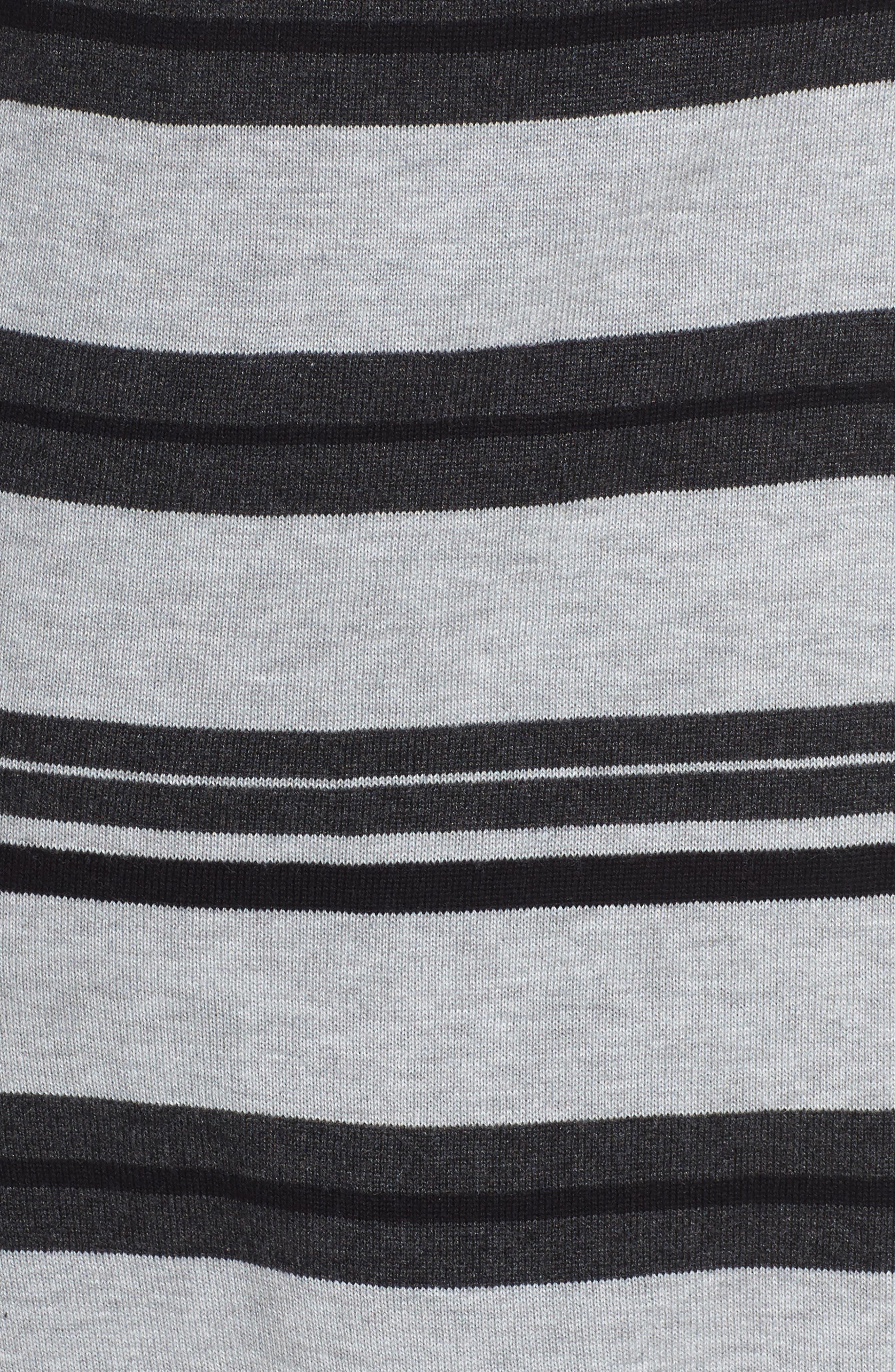 Long Stripe Cardigan,                             Alternate thumbnail 5, color,                             028