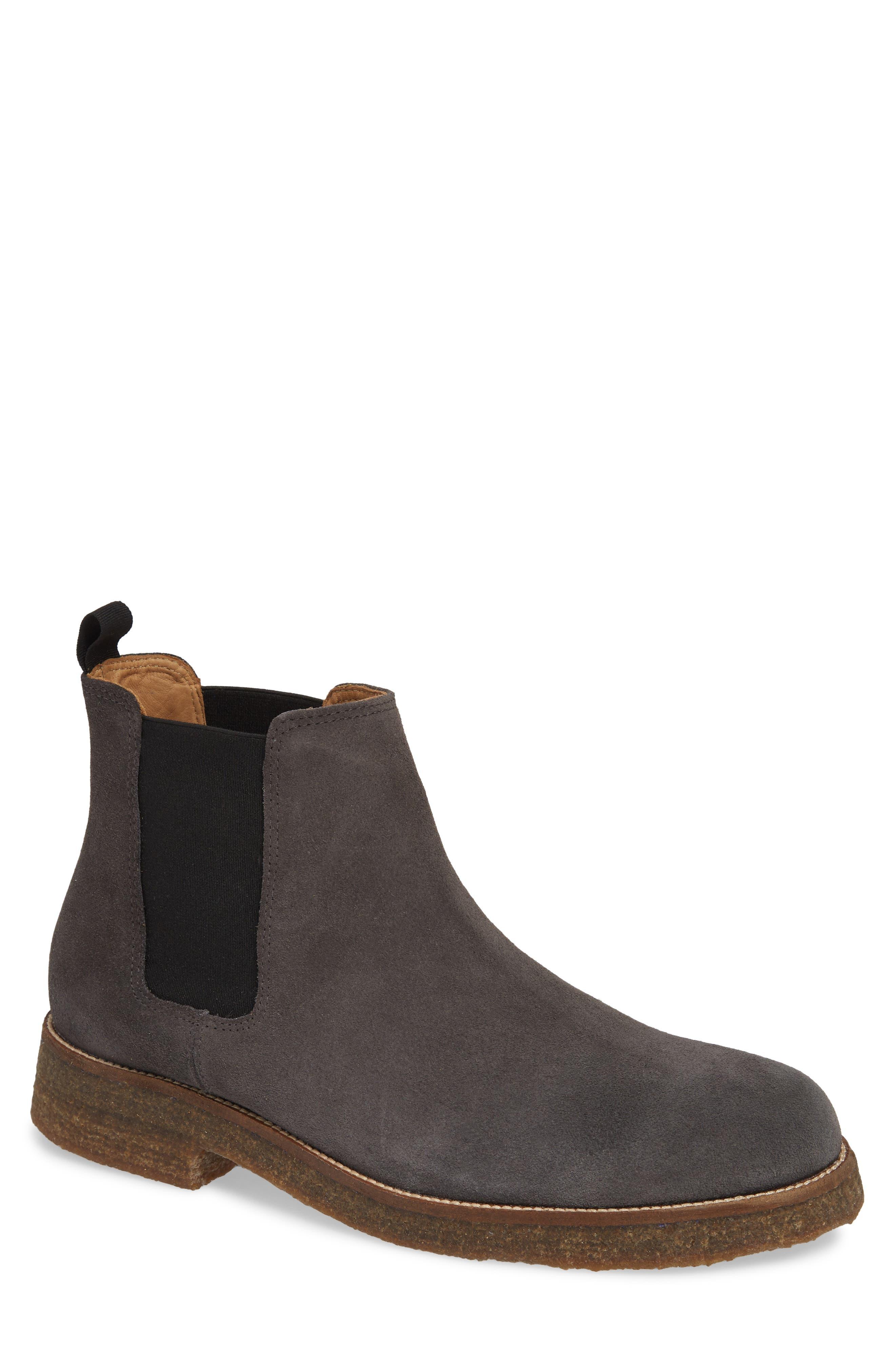 Hendren Chelsea Boot,                         Main,                         color, GREY SUEDE