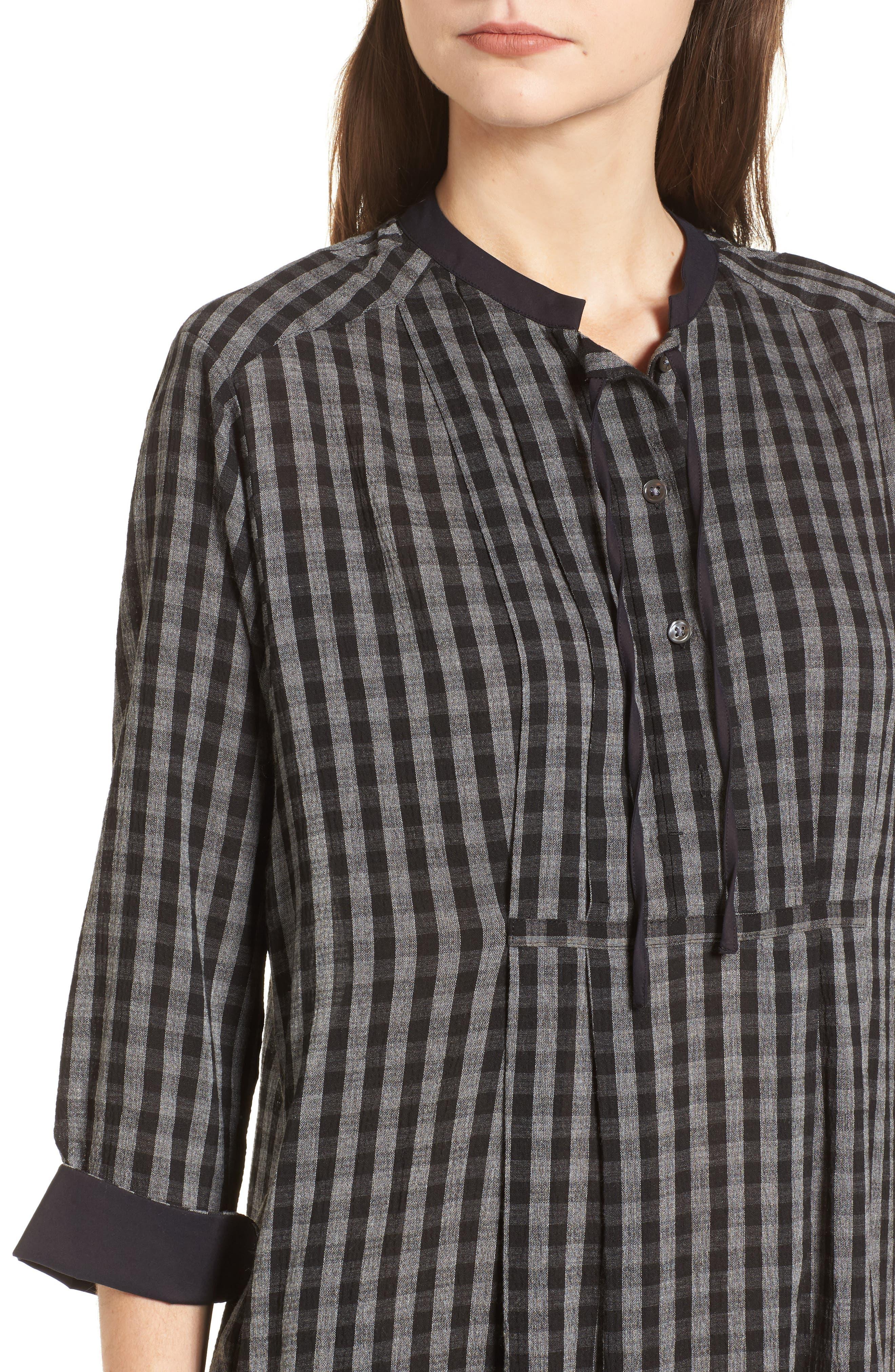 Check Shirtdress,                             Alternate thumbnail 4, color,                             002