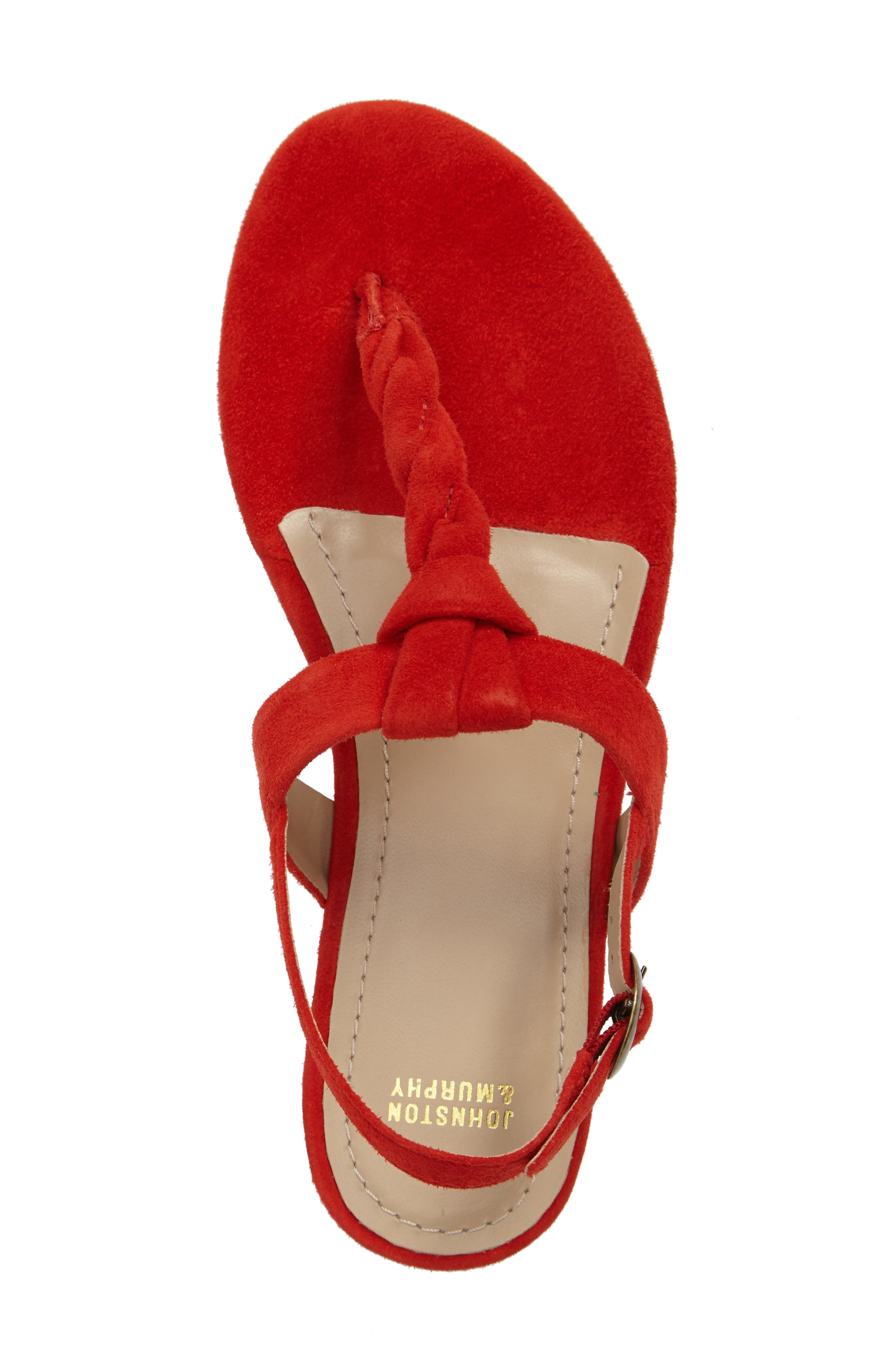 Holly Twisted T-Strap Sandal,                             Alternate thumbnail 24, color,