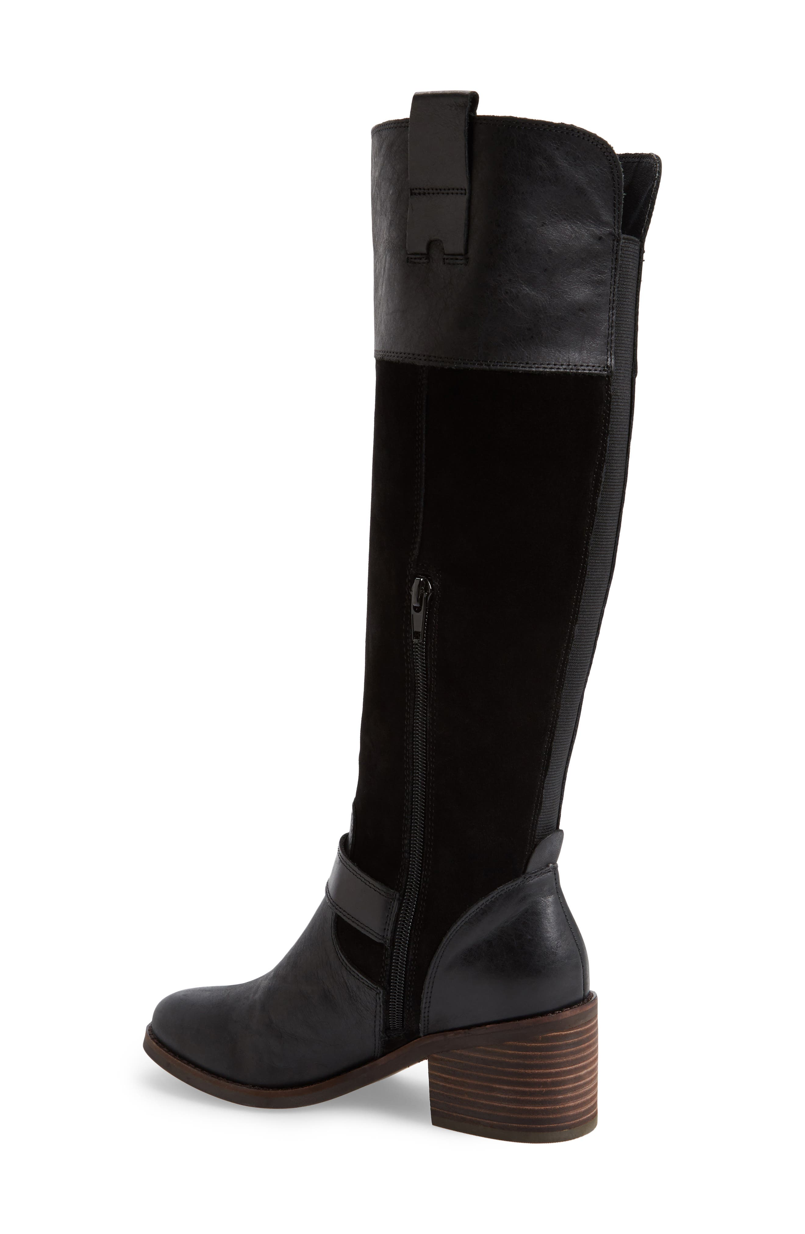 Kailan Ankle Strap Tall Boot,                             Alternate thumbnail 4, color,