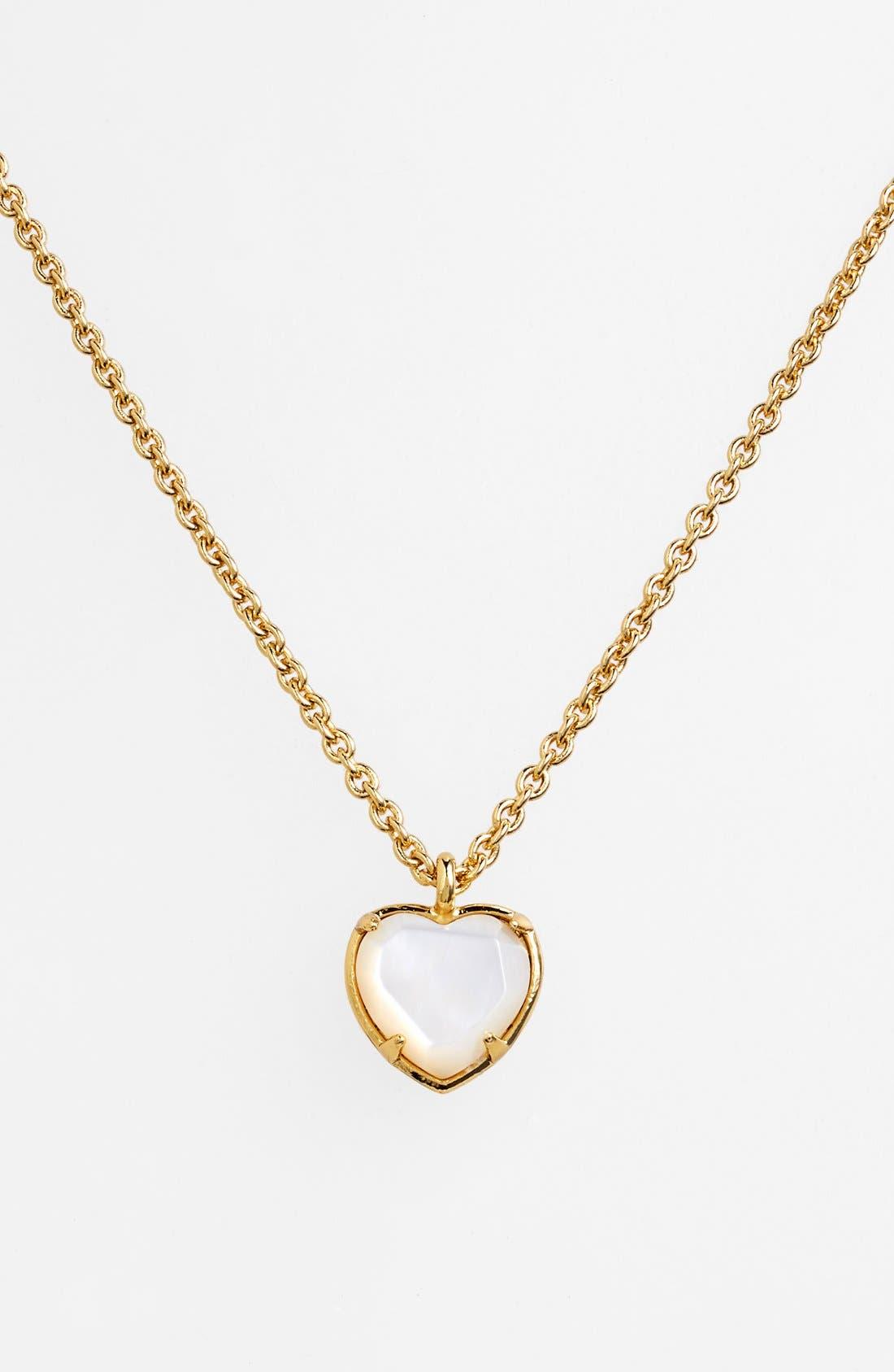 heart pendant necklace,                         Main,                         color, 250